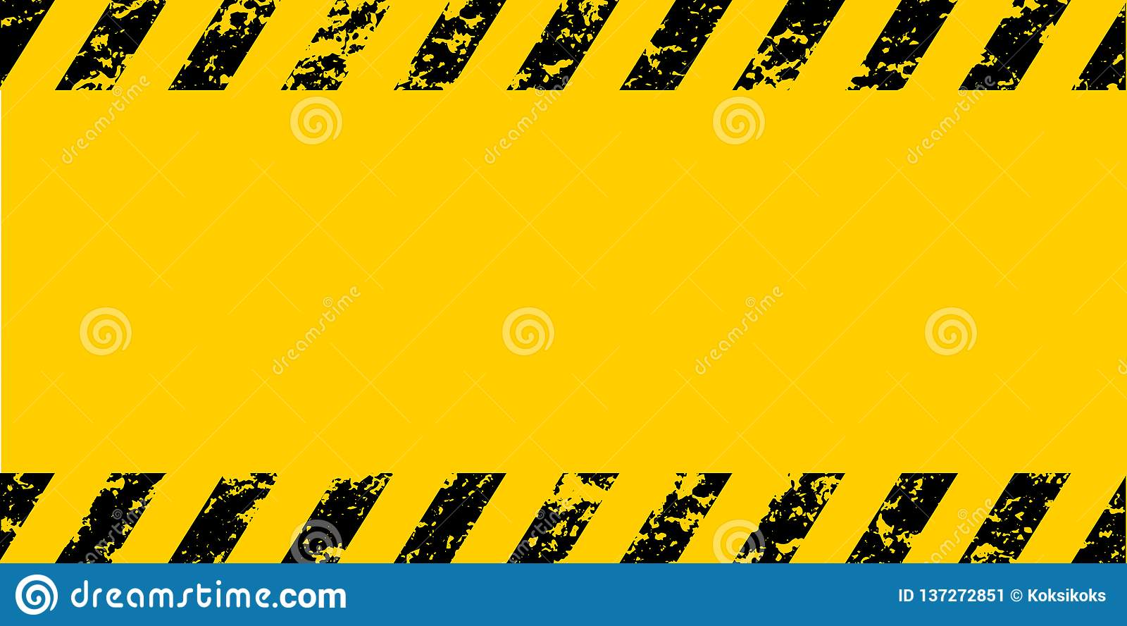 Warning frame grunge yellow black diagonal stripes, vector grunge texture warn caution, construction, safety background