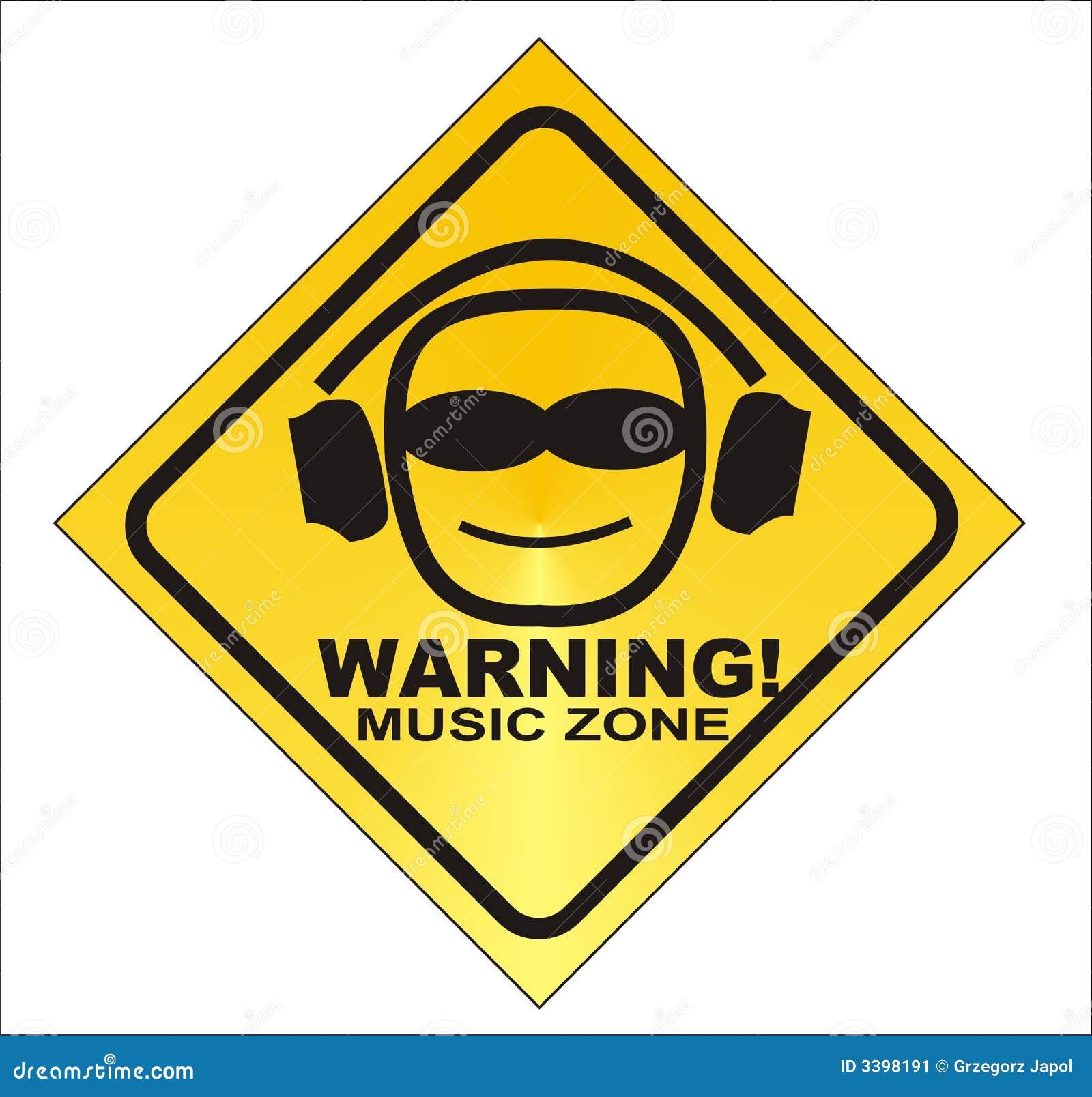 Warning Music Zone Stock Illustration Image Of Loud