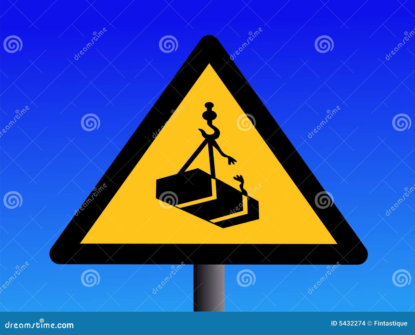 Warning Overhead Crane Loads Stock Images Image 5432274