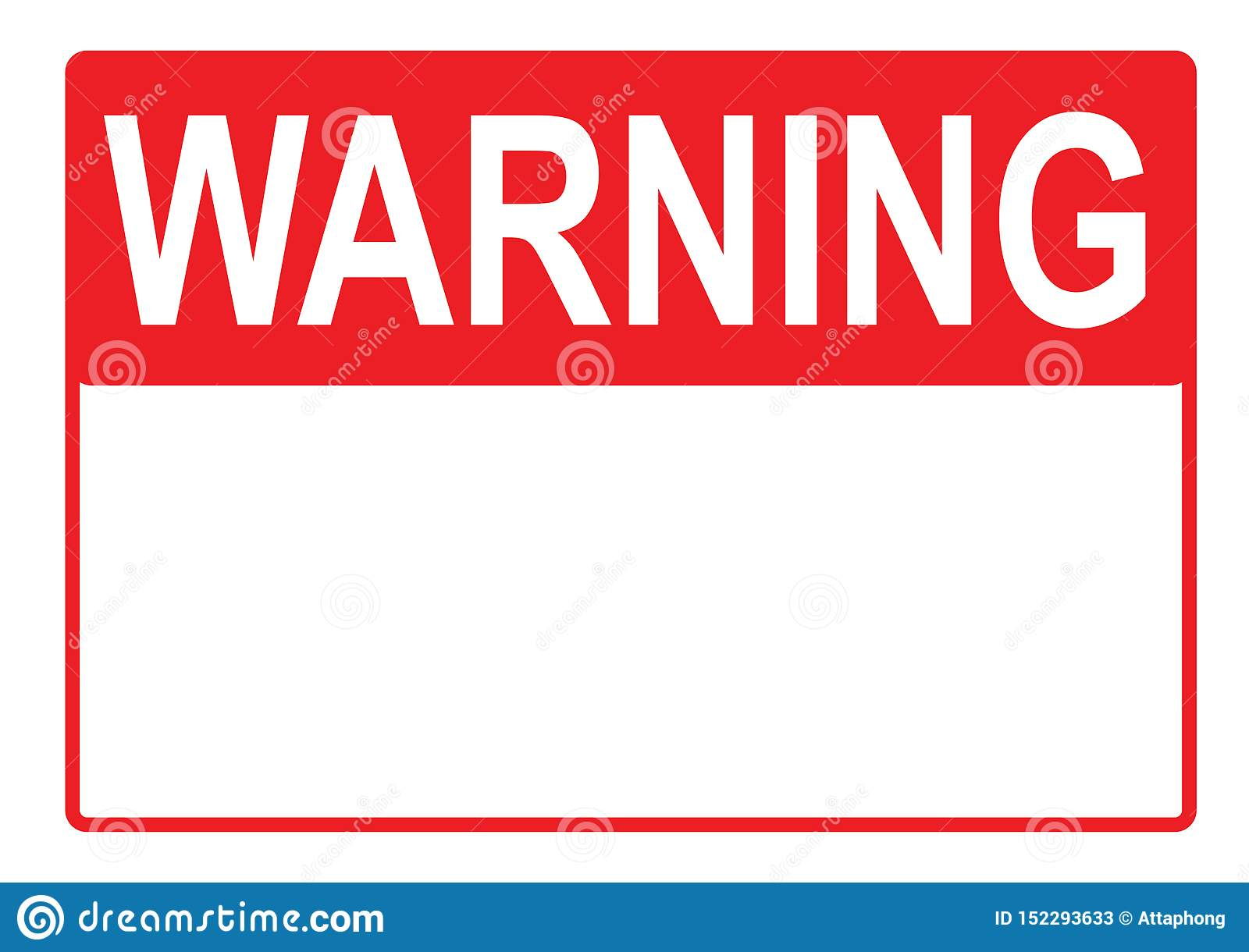 picture about A4 Printable Paper identified as Caution Indication Possibility Signal With Blank Spot For Your Phrases