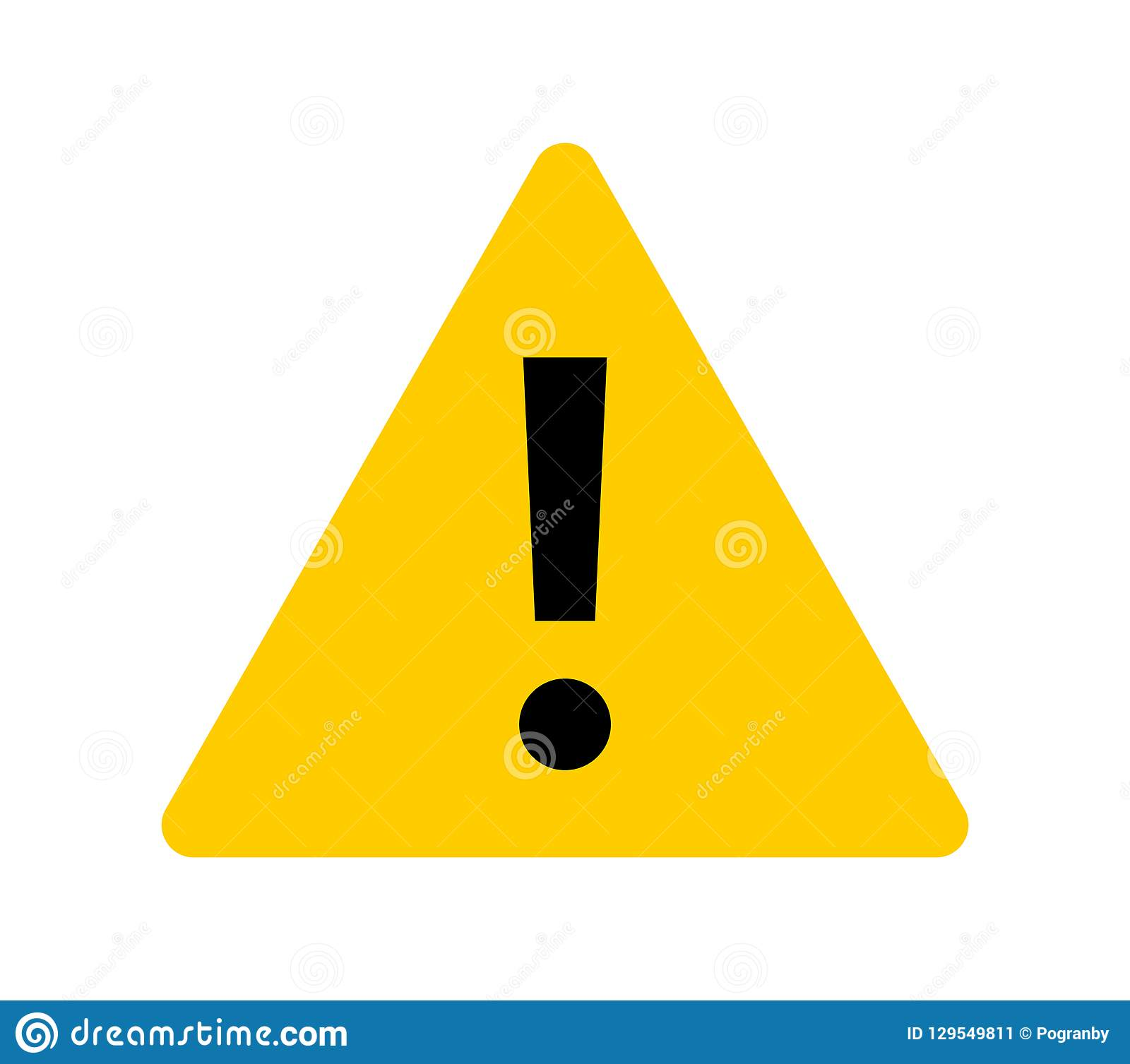 Warning Sign. Exclamation Mark On Yellow Triangle Stock ...