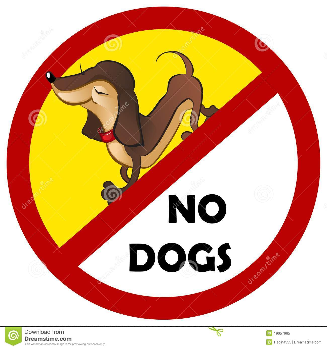 Warning sign no dogs allowed 19057965