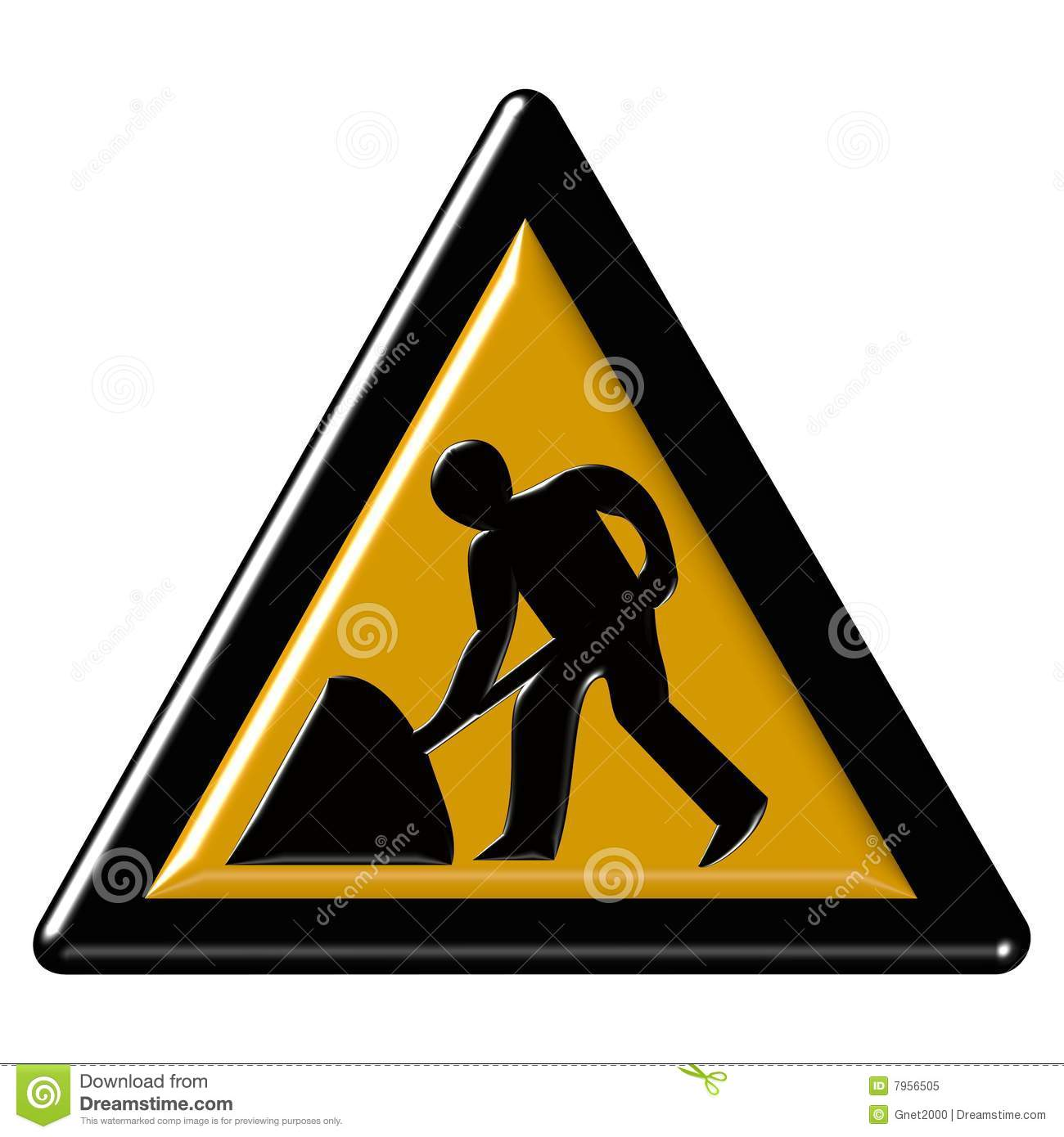Warning Sign - Road Work Royalty Free Stock Photo - Image ...