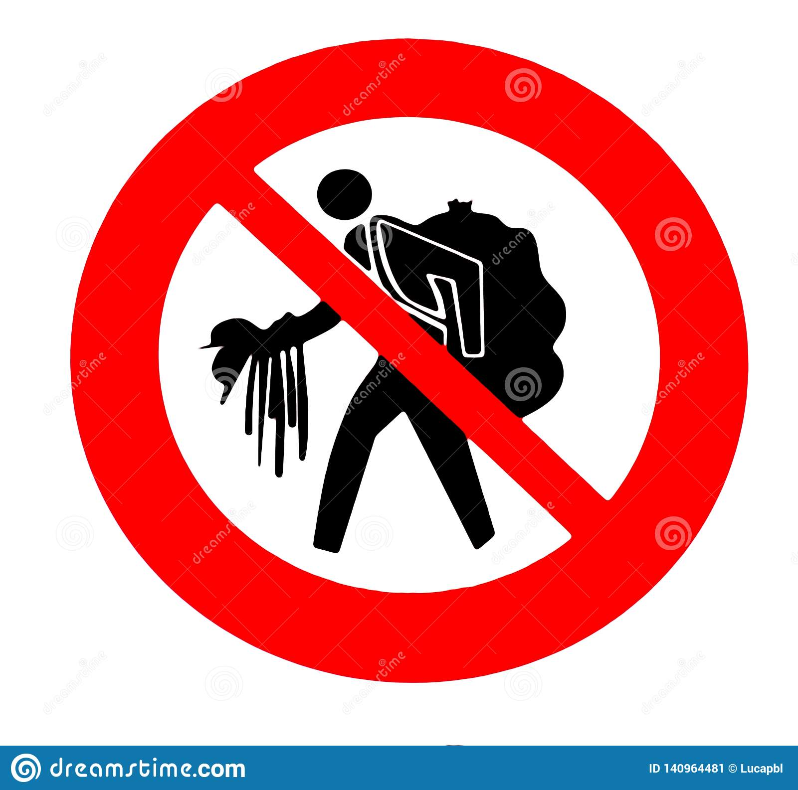 Warning sign used in italian beaches or touristic areas. Do not buy counterfeit goods from unauthorized vendors