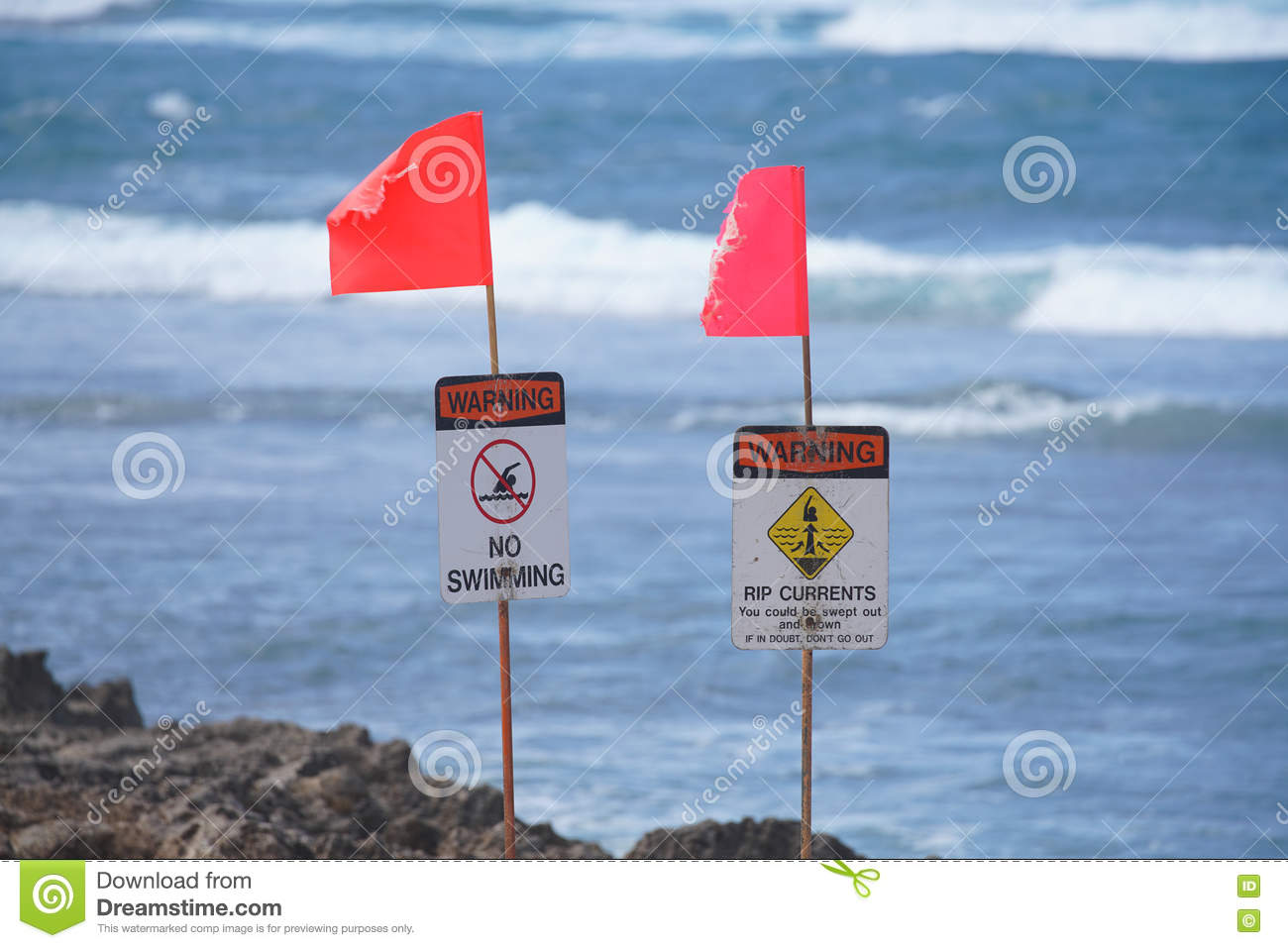 Warning Signs on Oahu s North Shore