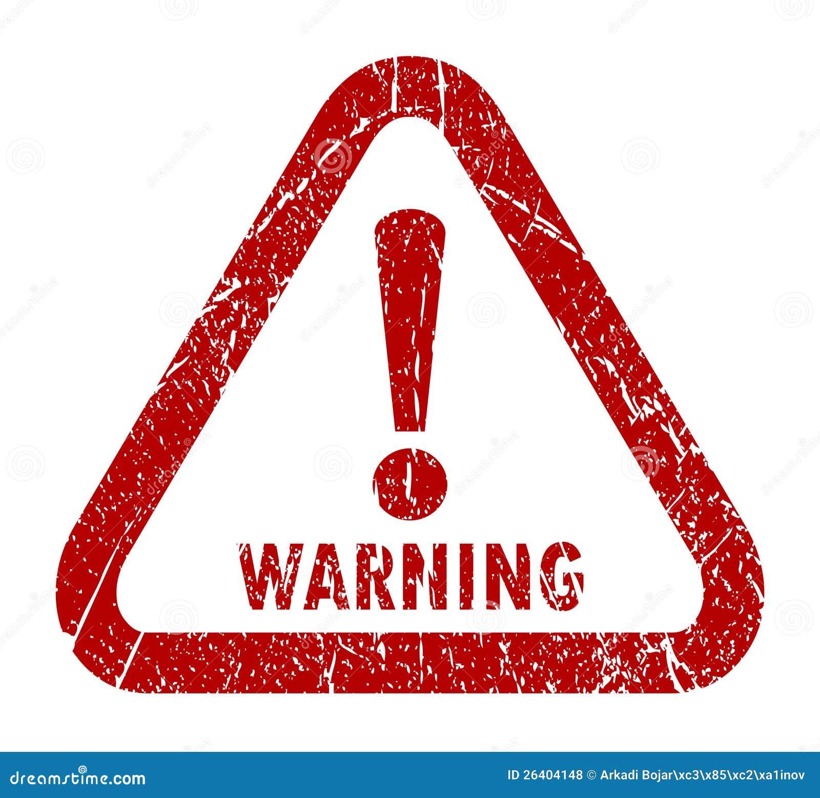 Warning Stamp Royalty Free Stock Photos Image 26404148