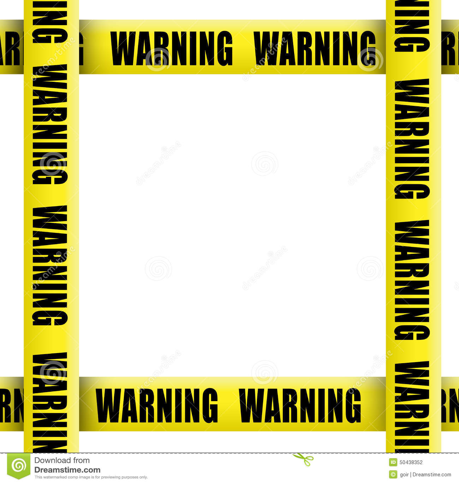 Warning Tape Frame Stock Photo - Image: 50438352