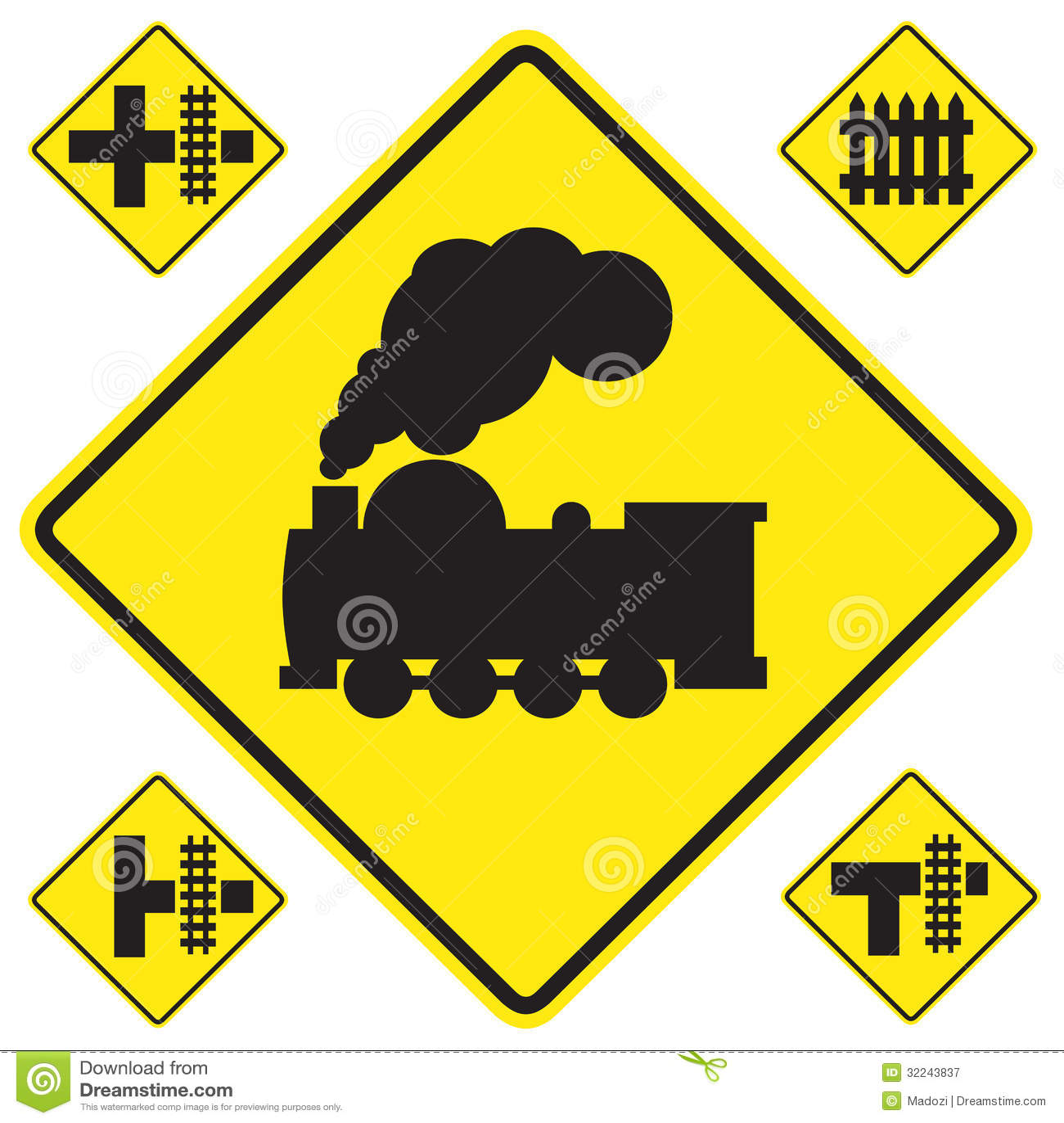 Railroad Warning Sign: Aldon Railroad Safety Signs – kitchen