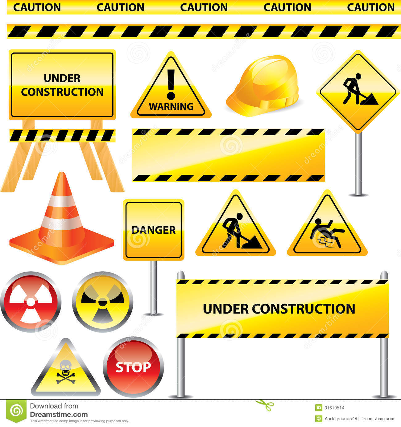 picture regarding Free Printable Construction Signs referred to as Caution And Down below Composition Indications Inventory Vector