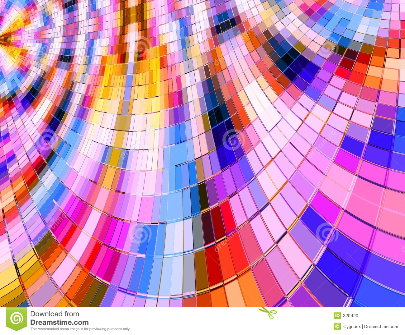 Warped Multi Colour Mosaic Stock Photo - Image: 320420