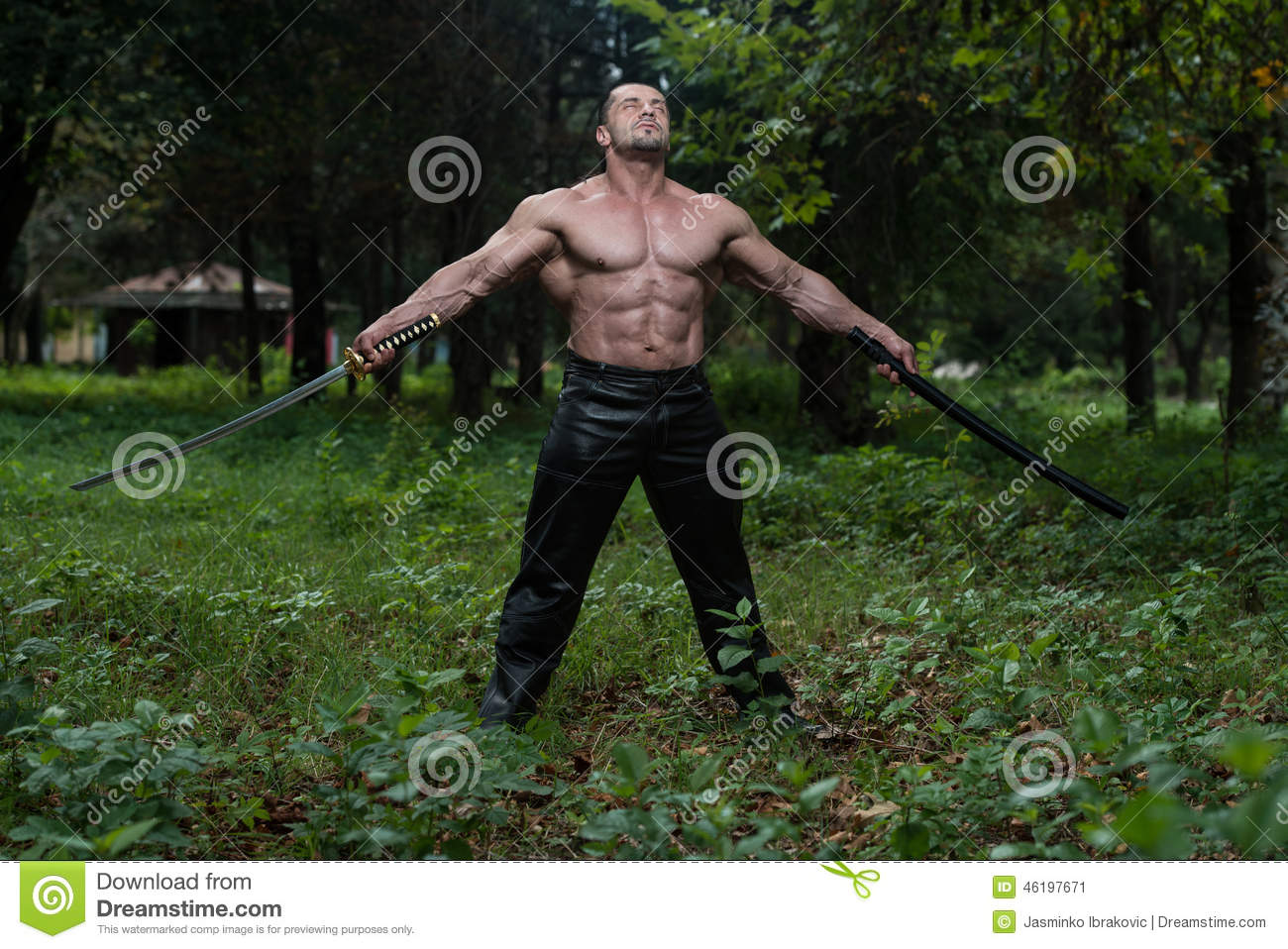 image Sword fighting hero gets to fuck sexy savannah outdoors as his prize