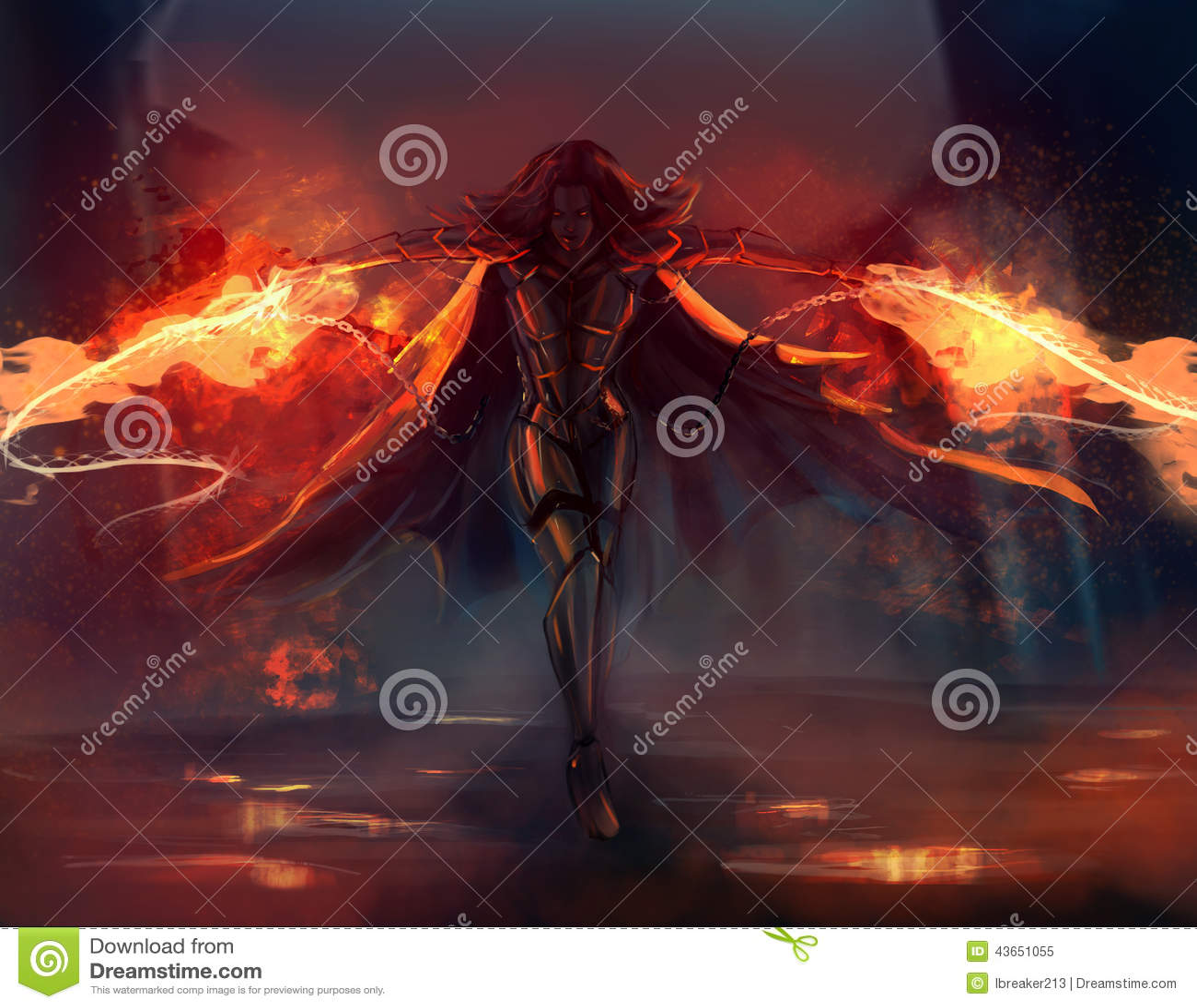 Warrior Woman Stock Illustration. Illustration Of