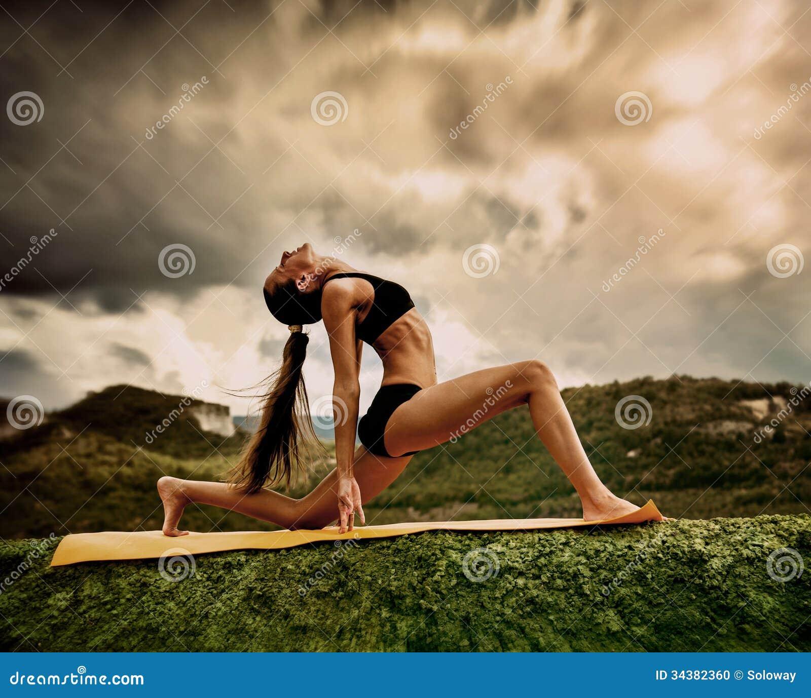 Yoga Meditation Pose Warrior Yoga Pose Stoc...