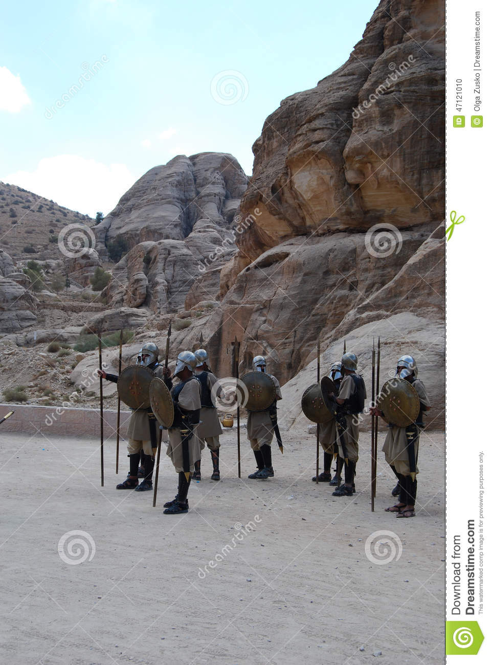 Warriors in Perta, Jordan