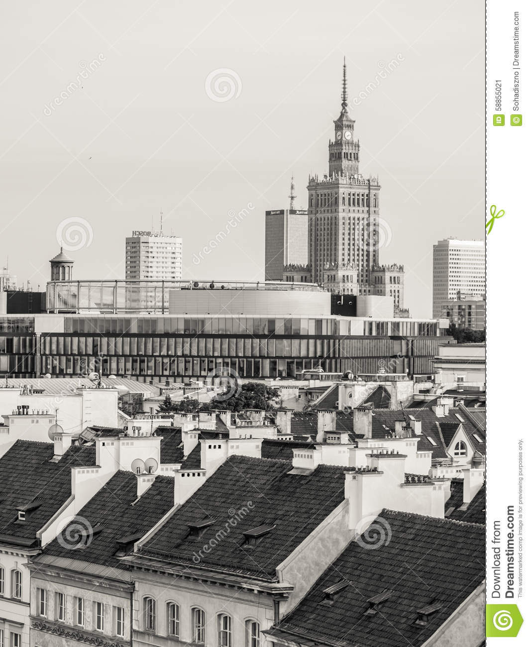 Terraces At Town Center: Warsaw Editorial Photo. Image Of City, Capital, Poland