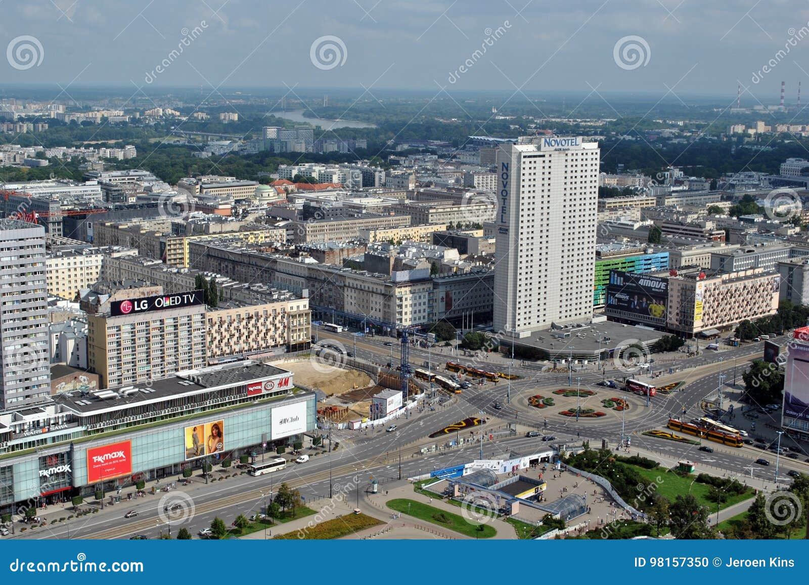 Warsaw main roads
