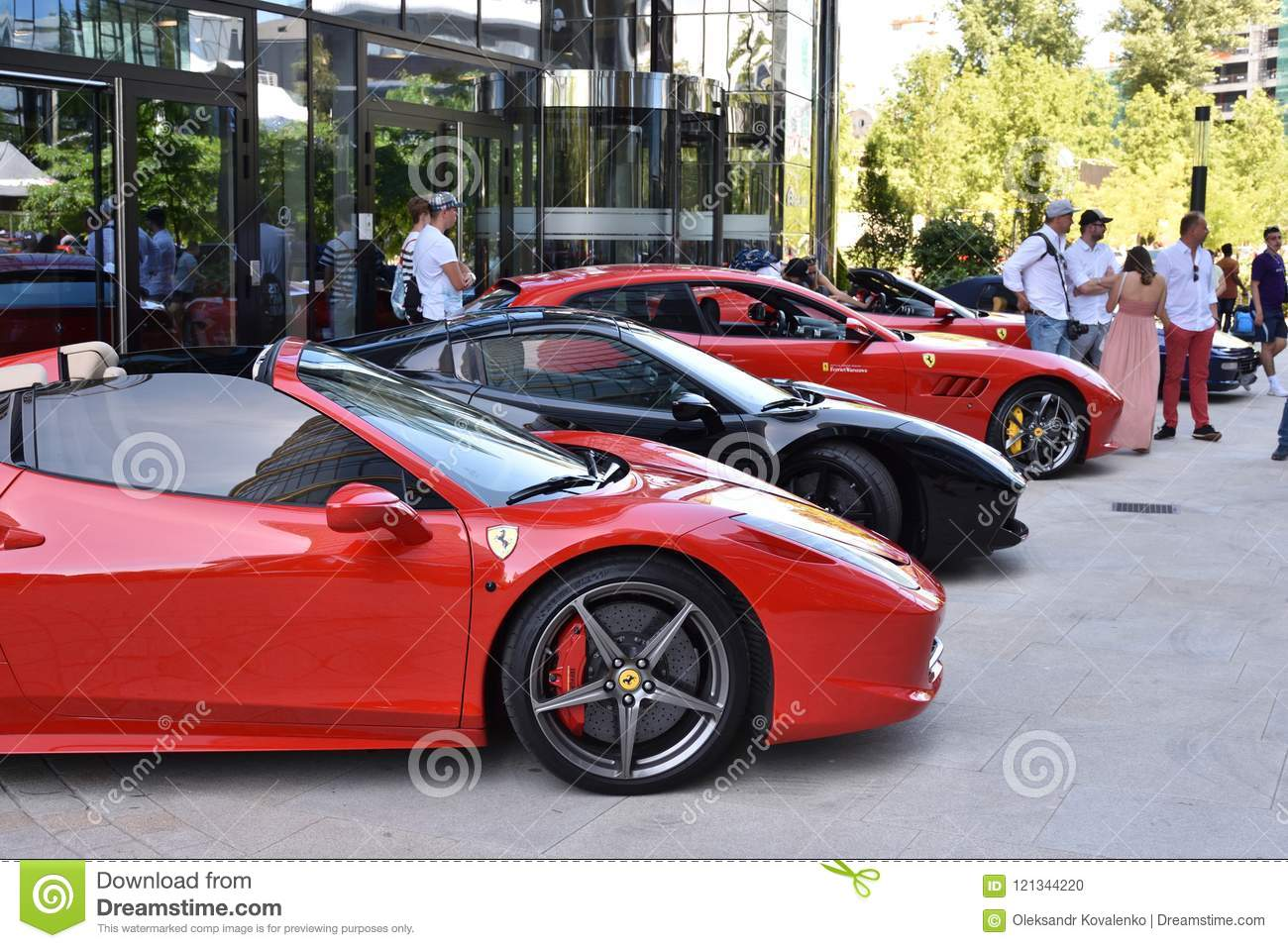 Red And Black Ferrari Sport Cars Editorial Image Image Of Poland People 121344220