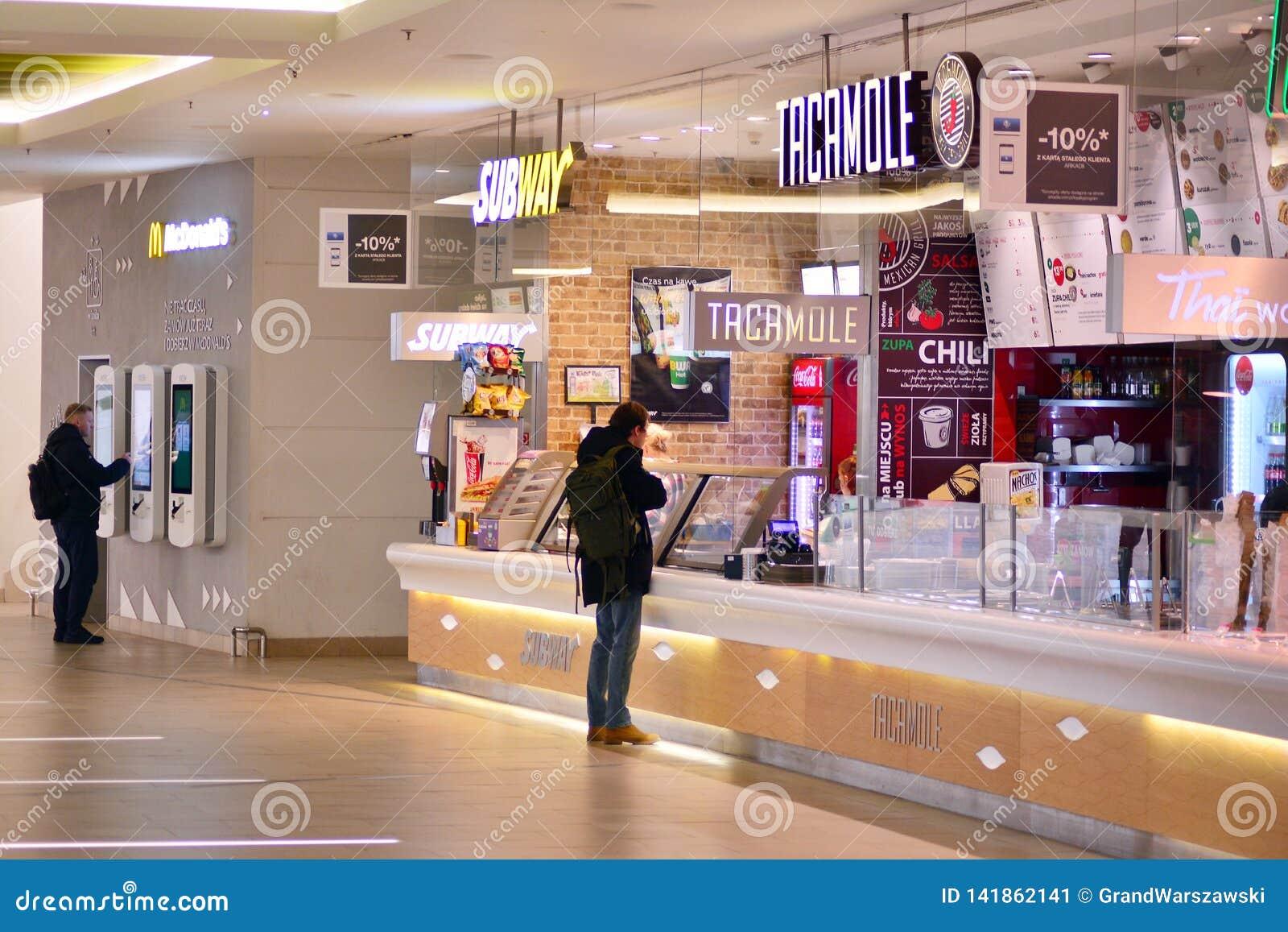 Restaurant Zone In The Arkadia Shopping Center Arkadia Offers A