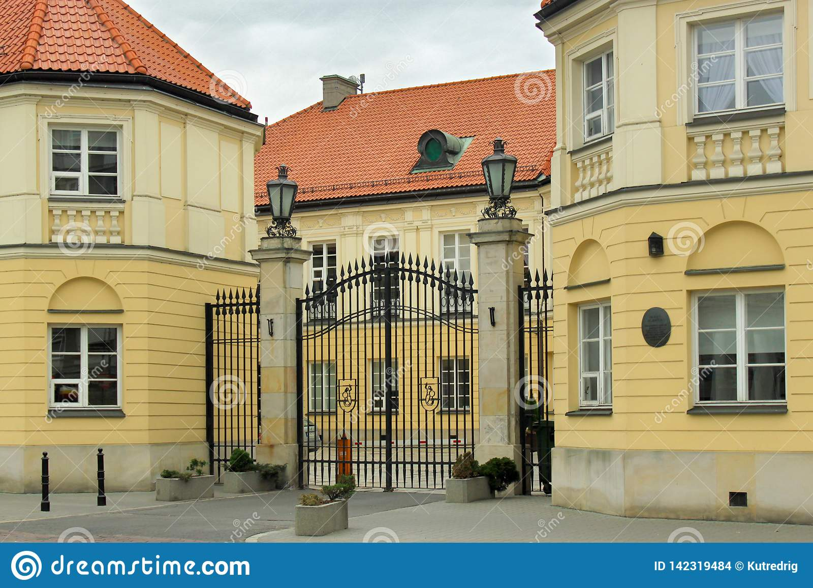 WARSAW, POLAND - MAY 12, 2012: View of the Blank Palace in Warsaw.
