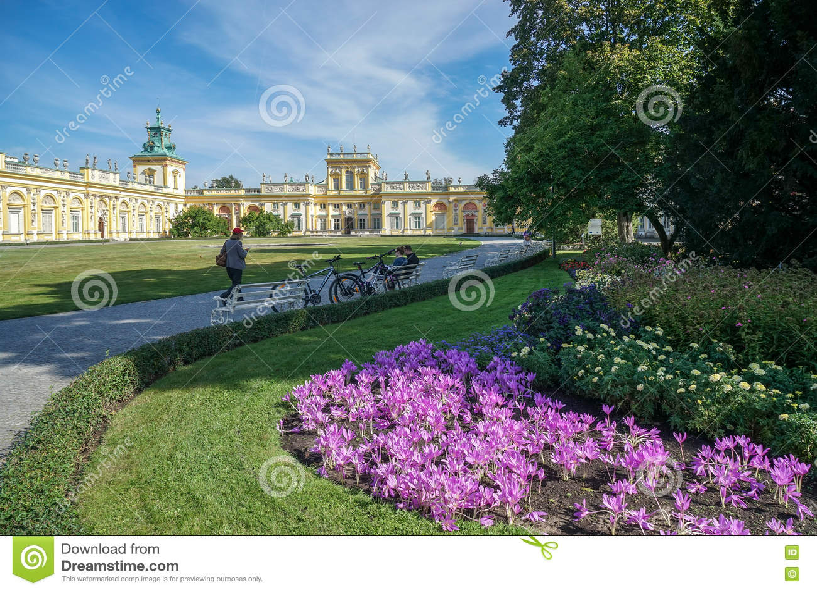 WARSCHAU, POLAND/EUROPE - 17. SEPTEMBER: Annäherung an Wilanow Palac