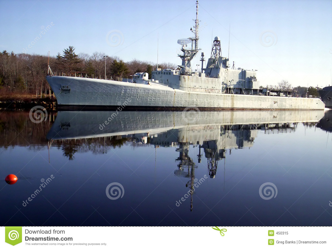Warship reflection,The H M C S Fraser