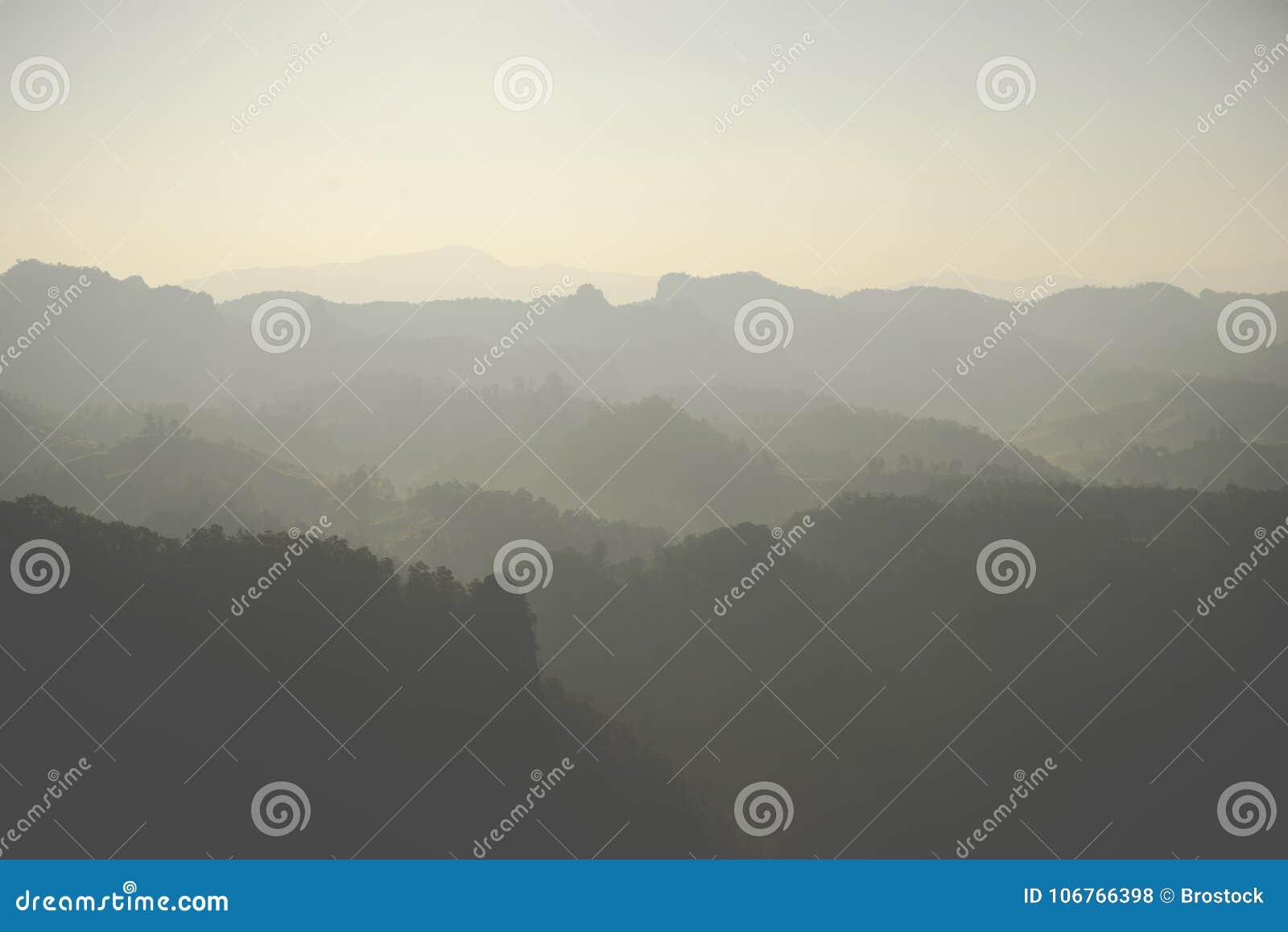 Warstwy góra w Tajlandia