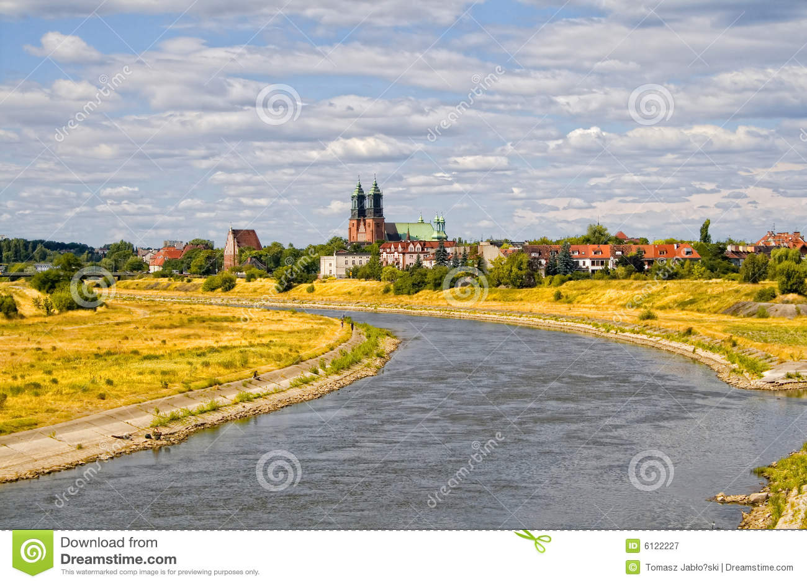 Warta för basilicapoznan flod