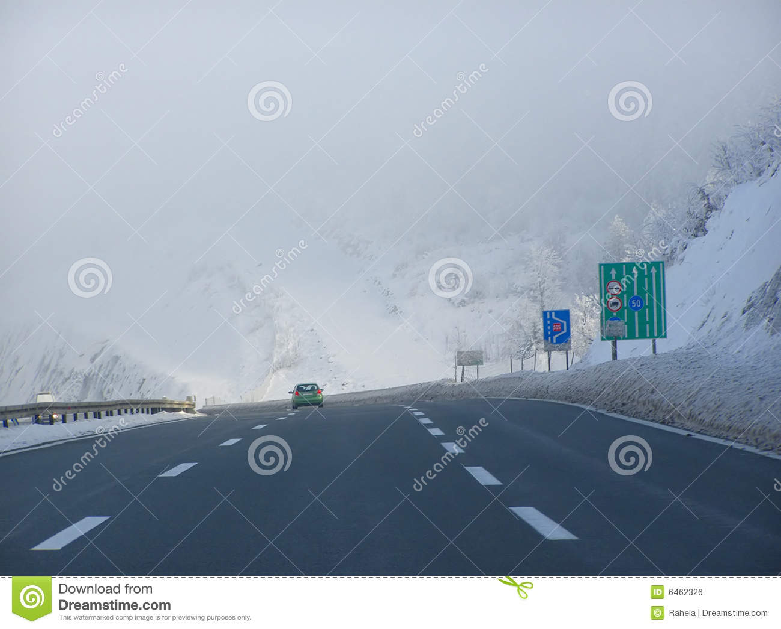 Warunki jeździ zimę