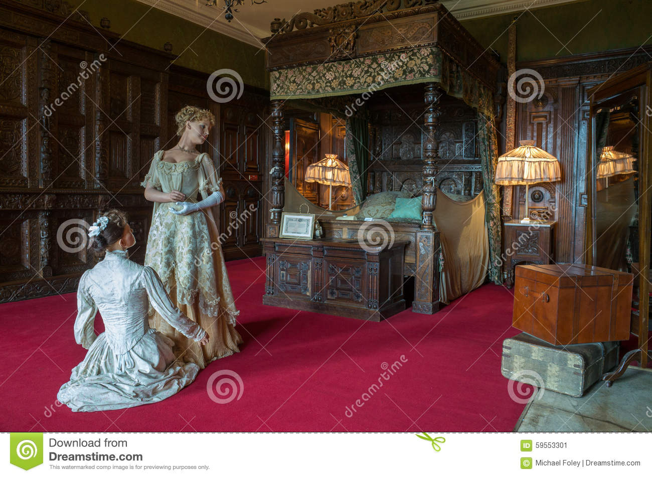 Warwick Castle Countess Of Warwick S Bedroom Editorial