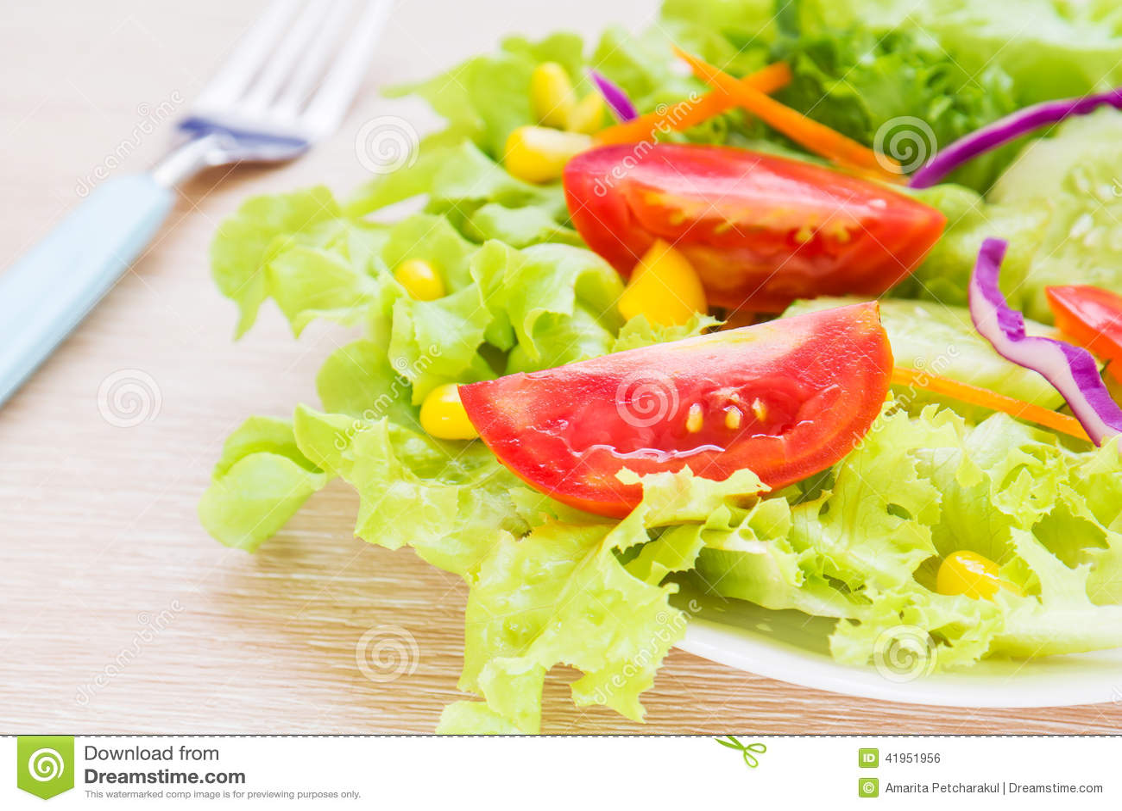 Warzywa sa?atkowi na talerzu