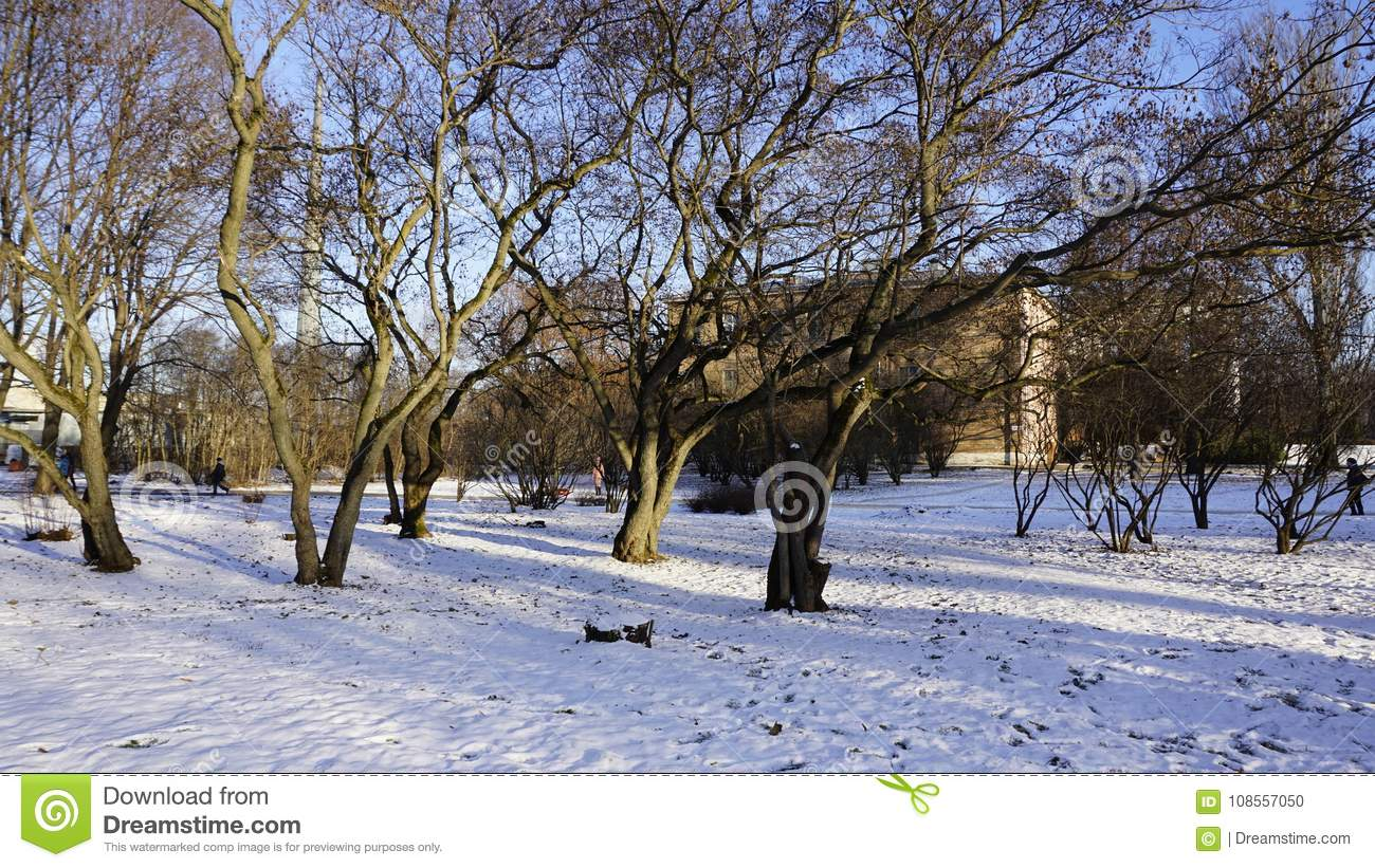 Winter Season In Russia Moscow City Stock Photo Image Of Buidings