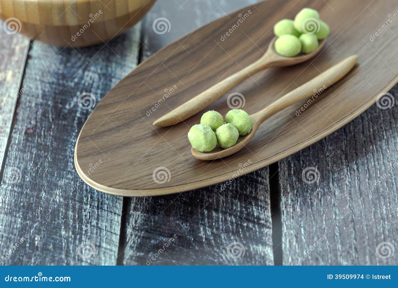 Wasabi coated pistachios