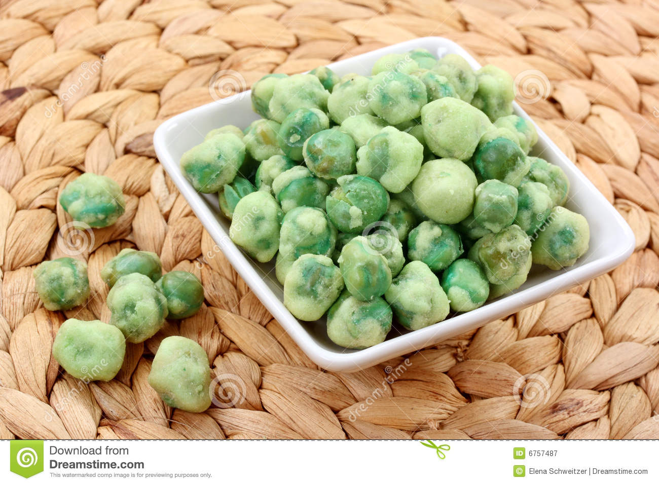 how to eat wasabi peas