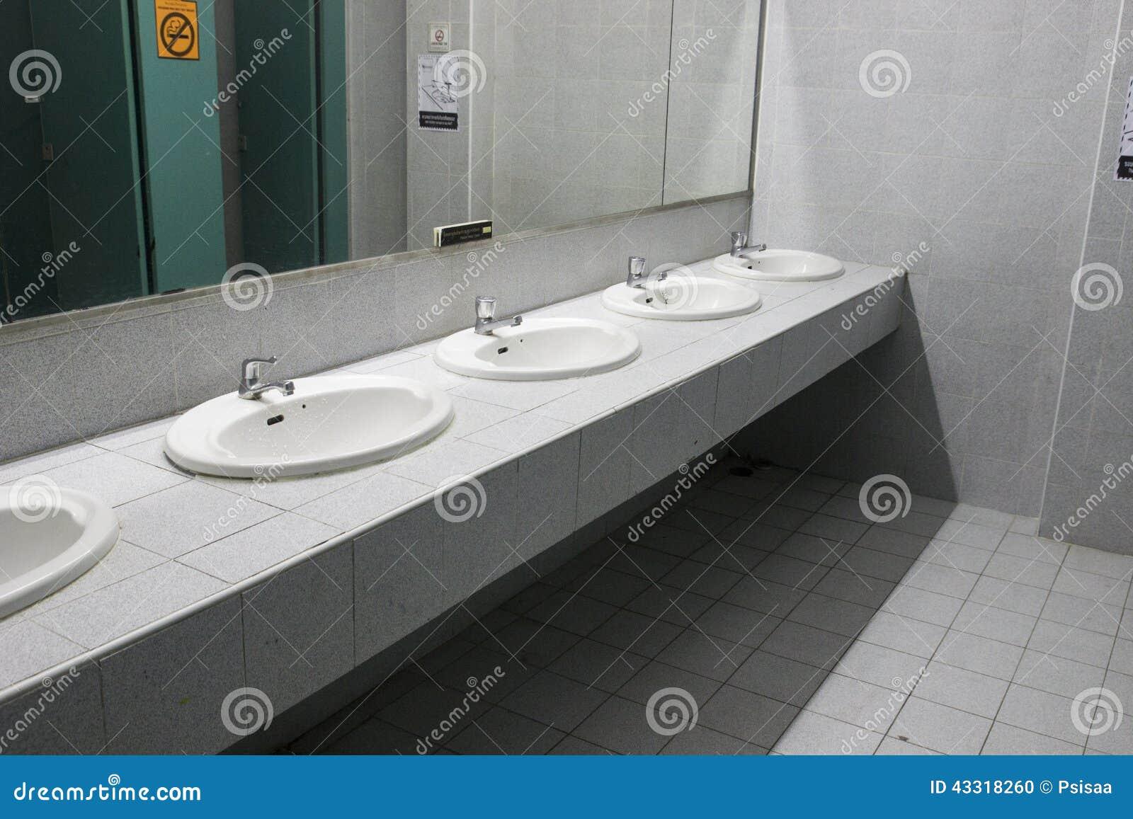 Wasbak openbaar toilet stock photos images