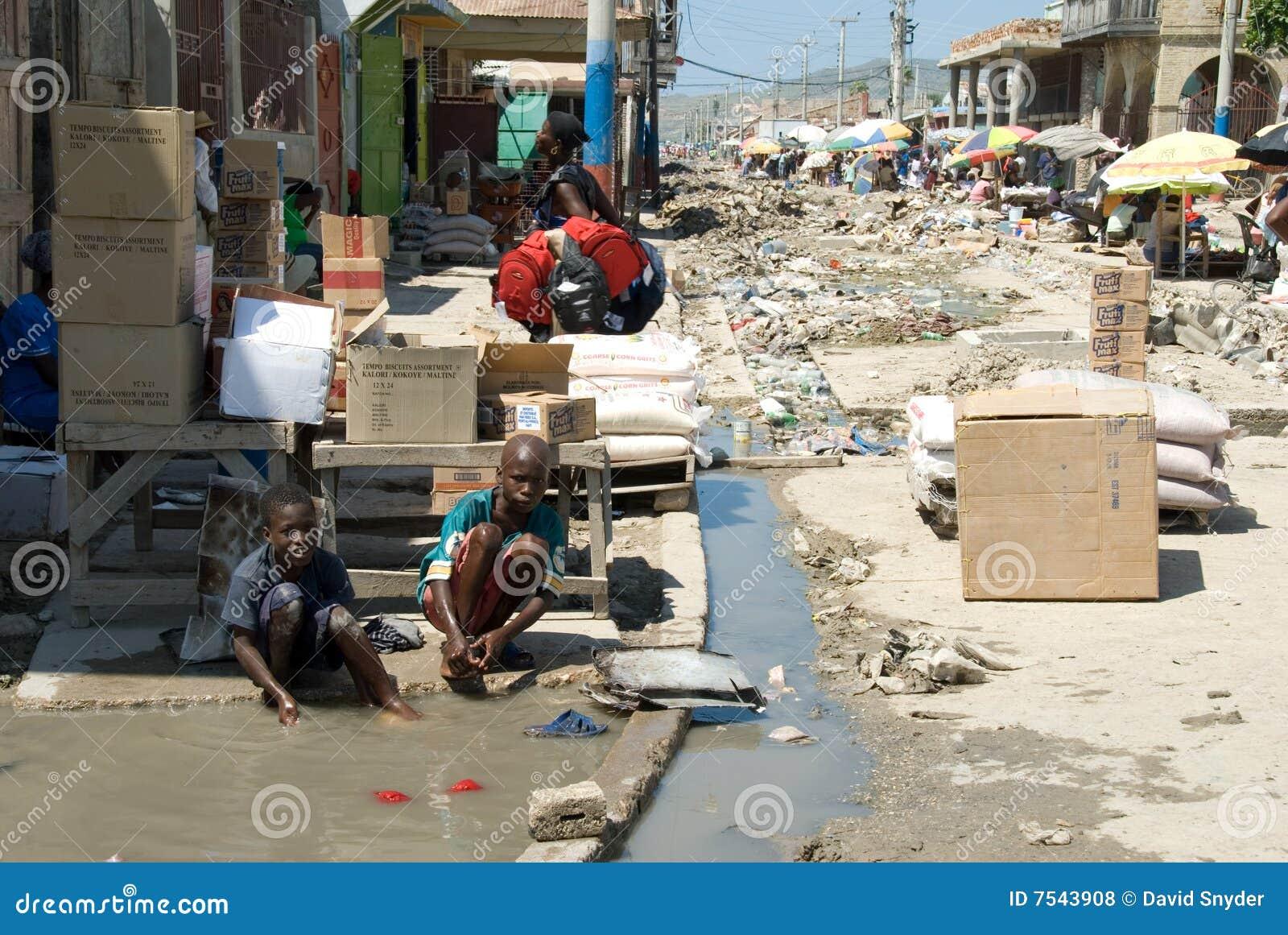 Waschen in der Straße