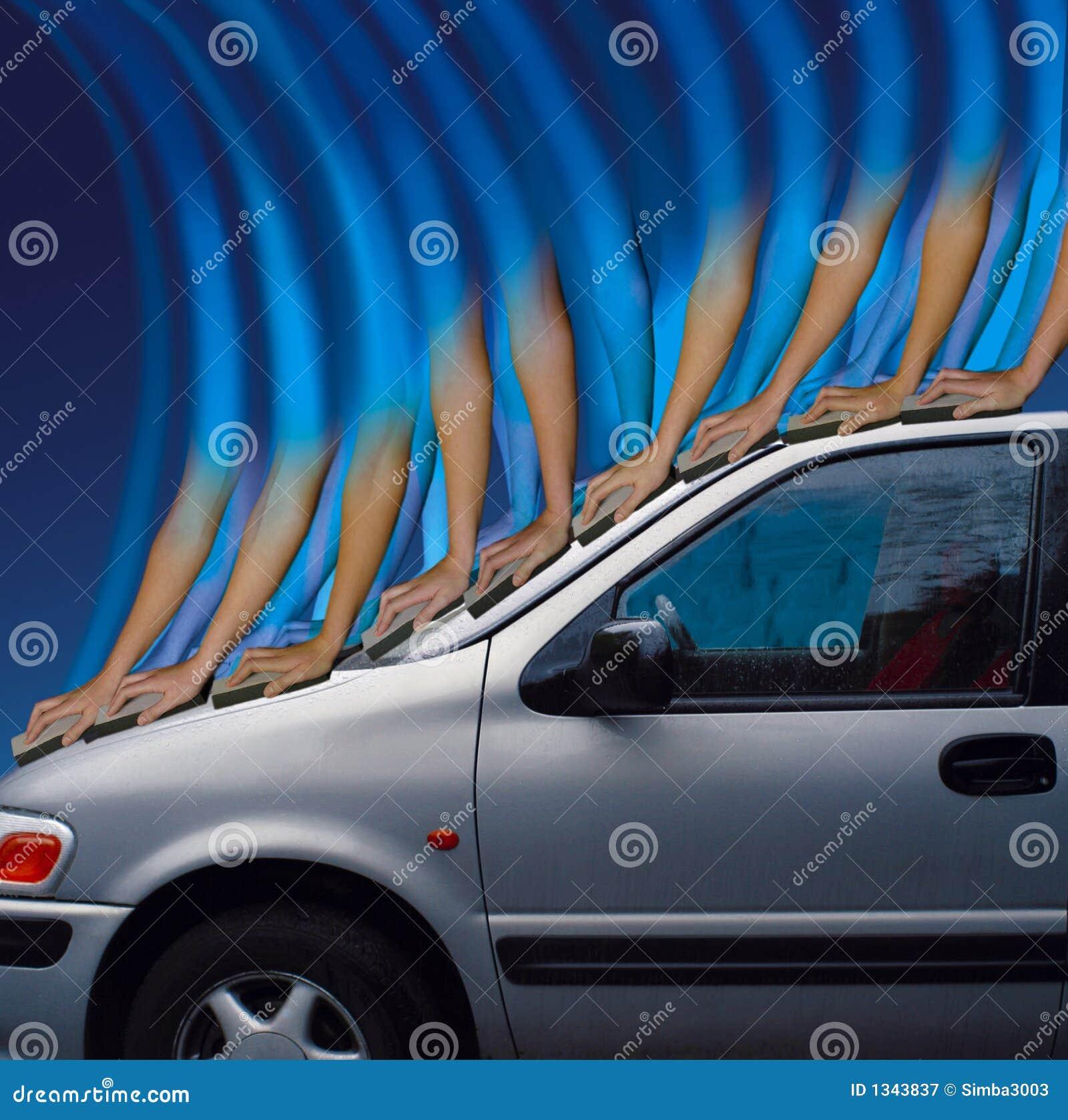 Waschendes Auto