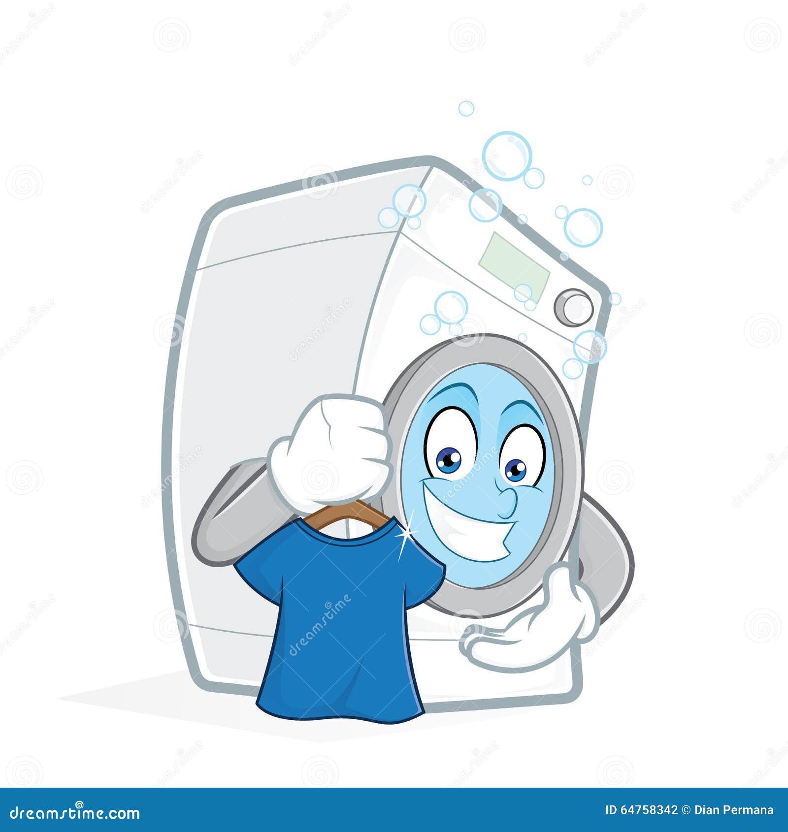 waschmaschine die sauberes t shirt h lt vektor abbildung bild 64758342. Black Bedroom Furniture Sets. Home Design Ideas