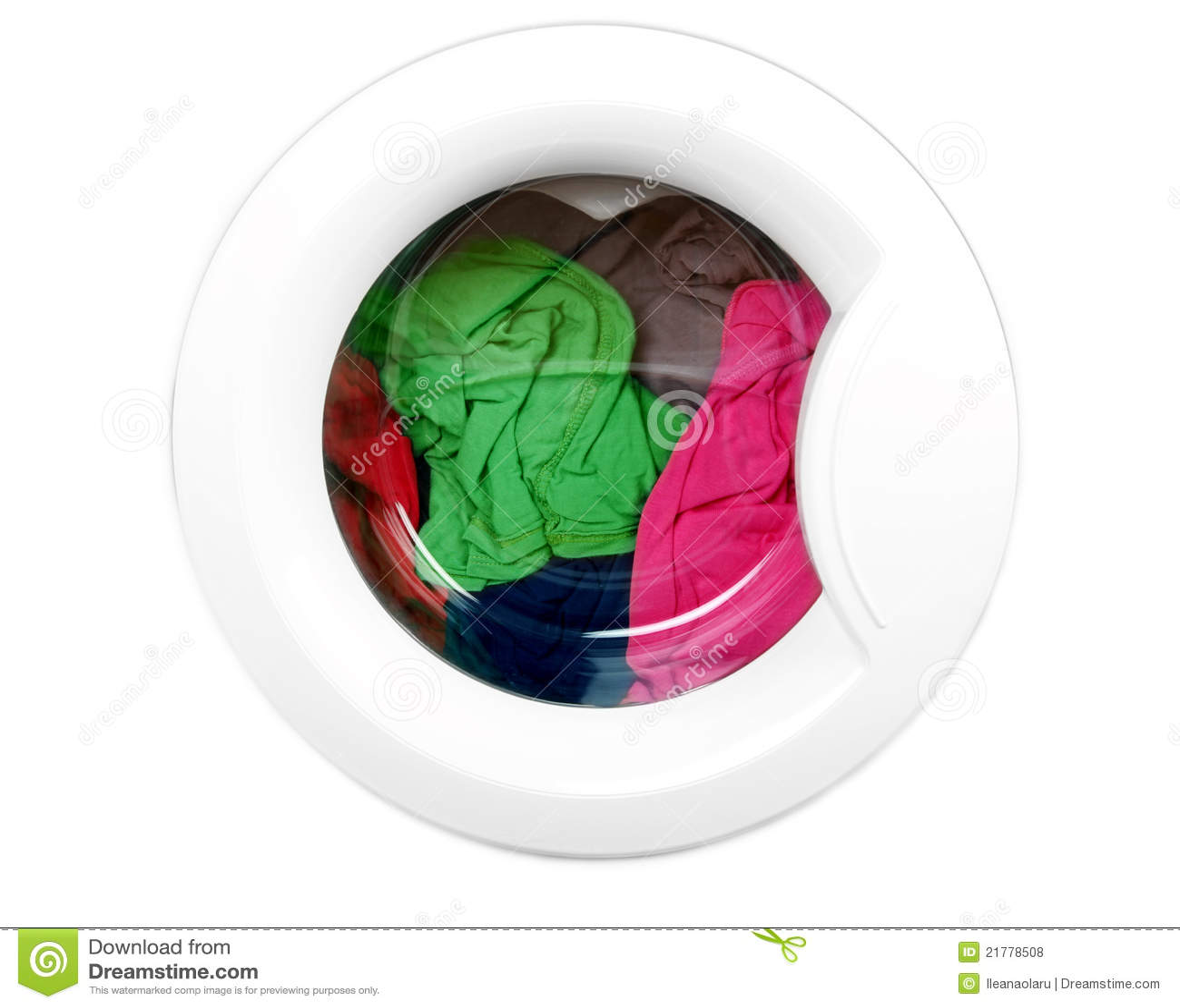 waschmaschine mit sauberer bunter kleidung lizenzfreie stockfotos bild 21778508. Black Bedroom Furniture Sets. Home Design Ideas