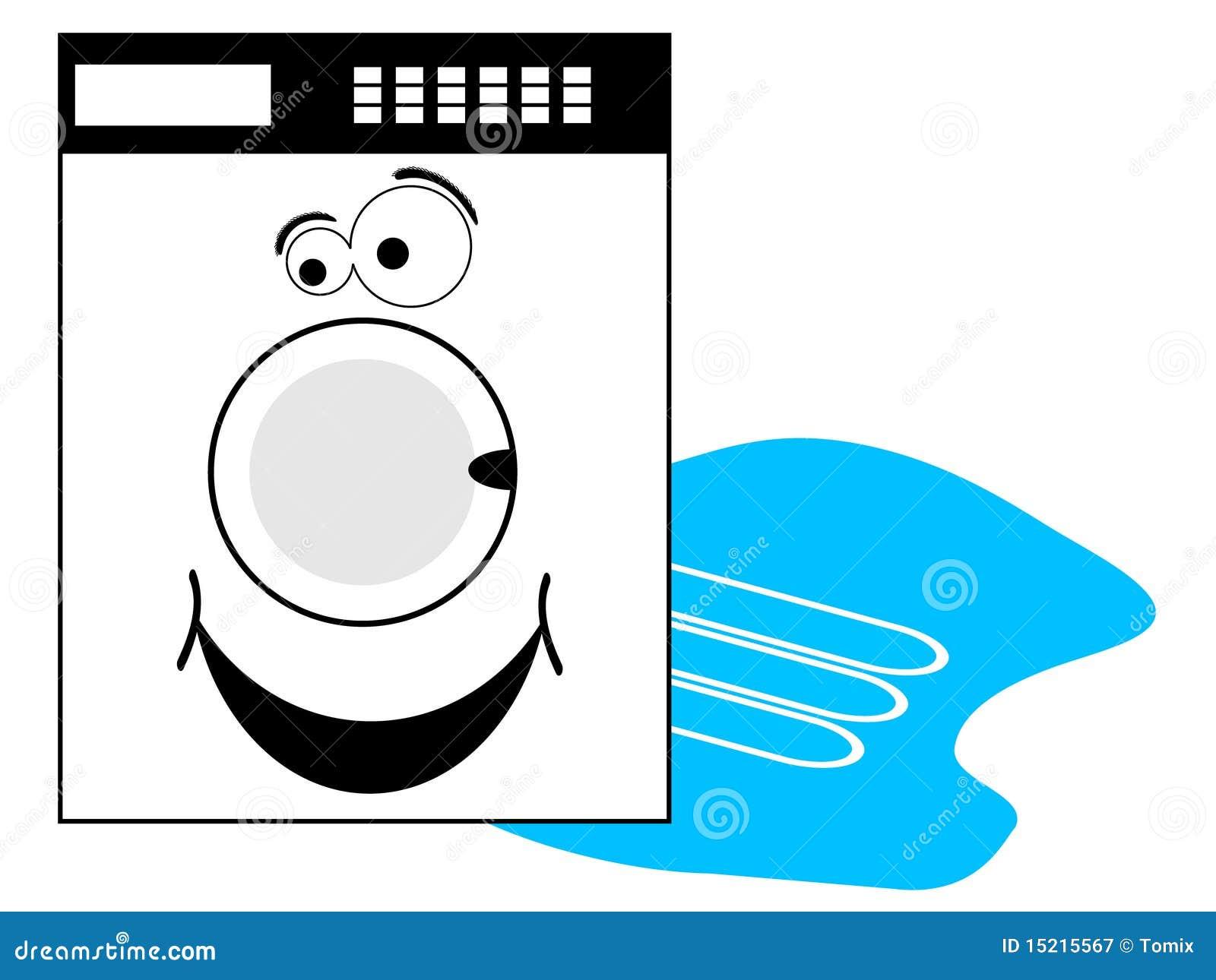 waschmaschine mit smiley lizenzfreie stockfotografie bild 15215567. Black Bedroom Furniture Sets. Home Design Ideas