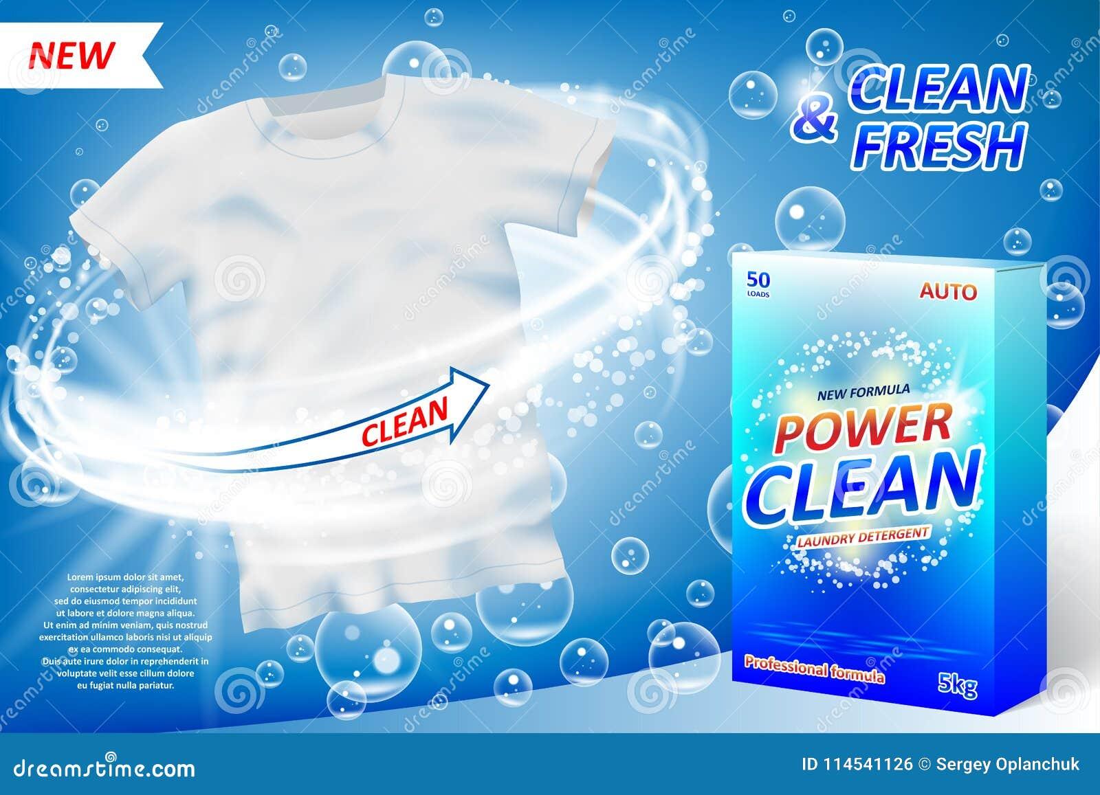 Waschmittel ANZEIGE Plakat Fleckenentferner-Verpackungsgestaltung ...