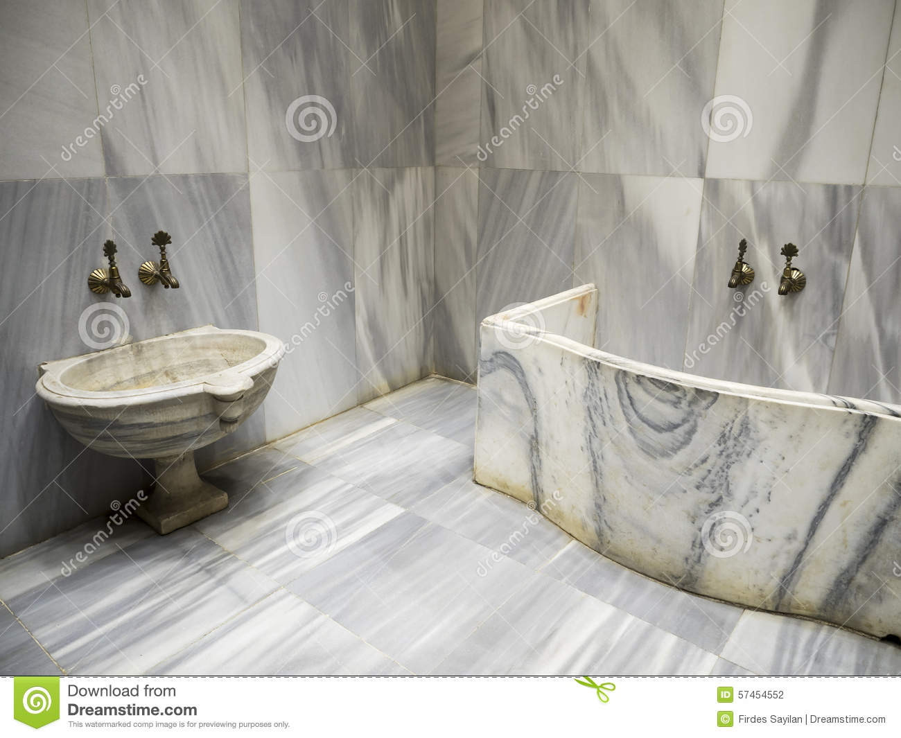 Wash Bowl In Bathroom – Hammam Stock Photo - Image of eastern ...