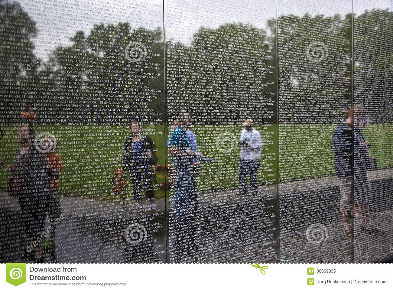 Engraved Names Of Dead Soldiers On The Wall Of The Vietnam Memorial In Washington D C Editorial