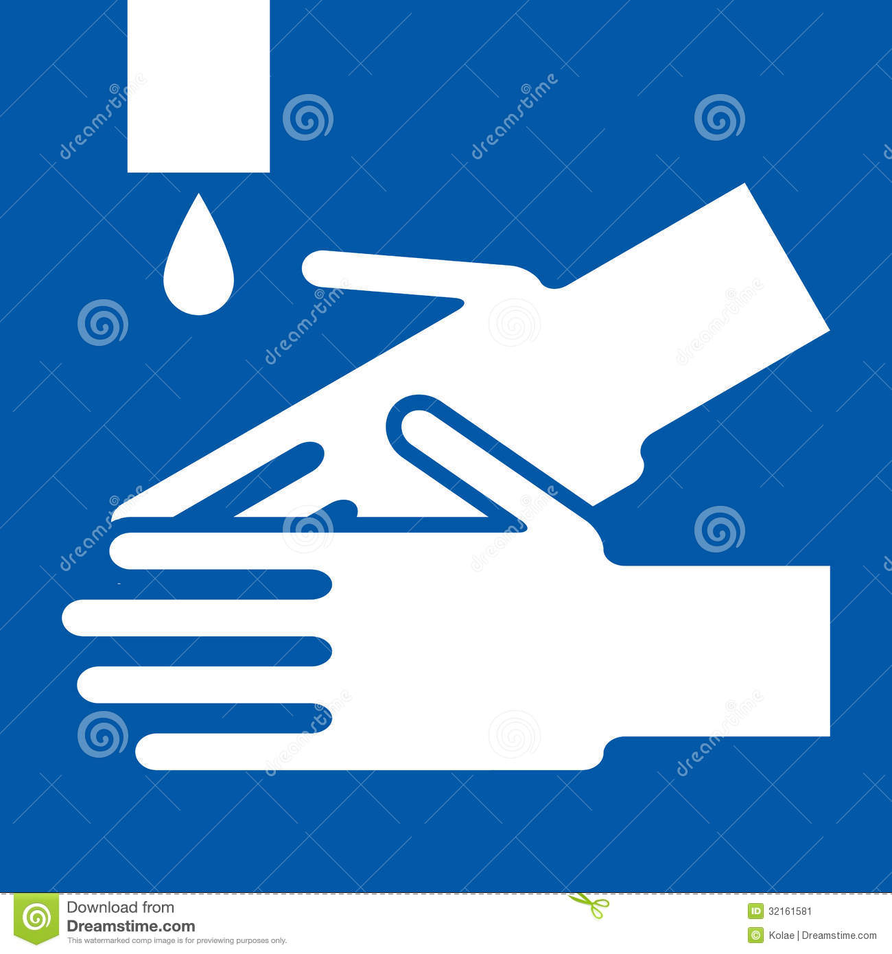Wash Hands Sign Stock Vector Image Of Pandemic
