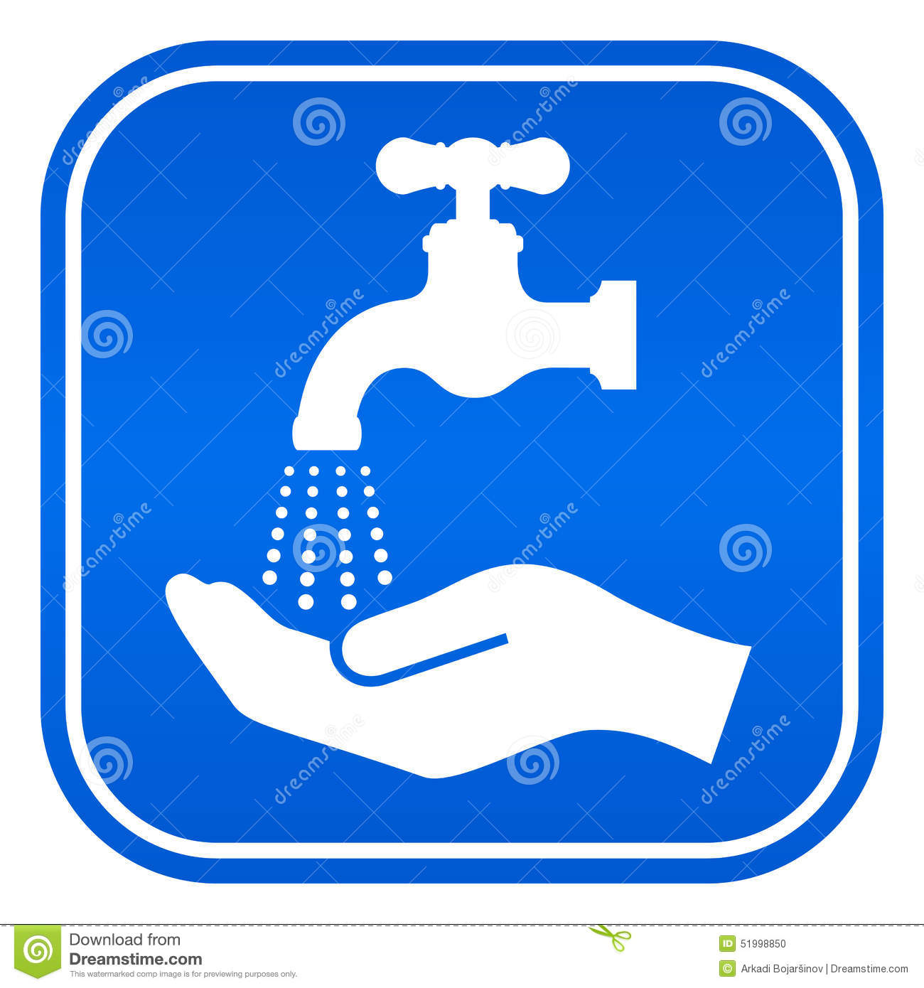 Wash Hands Sign Stock Vector Image 51998850