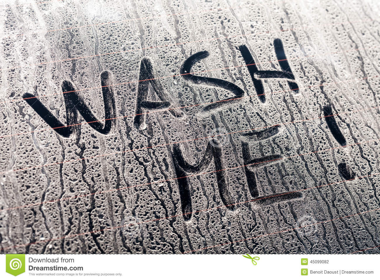 Hand Wash Car Wash >> Wash Me Words On A Dirty Car Window Stock Photo - Image: 45099082