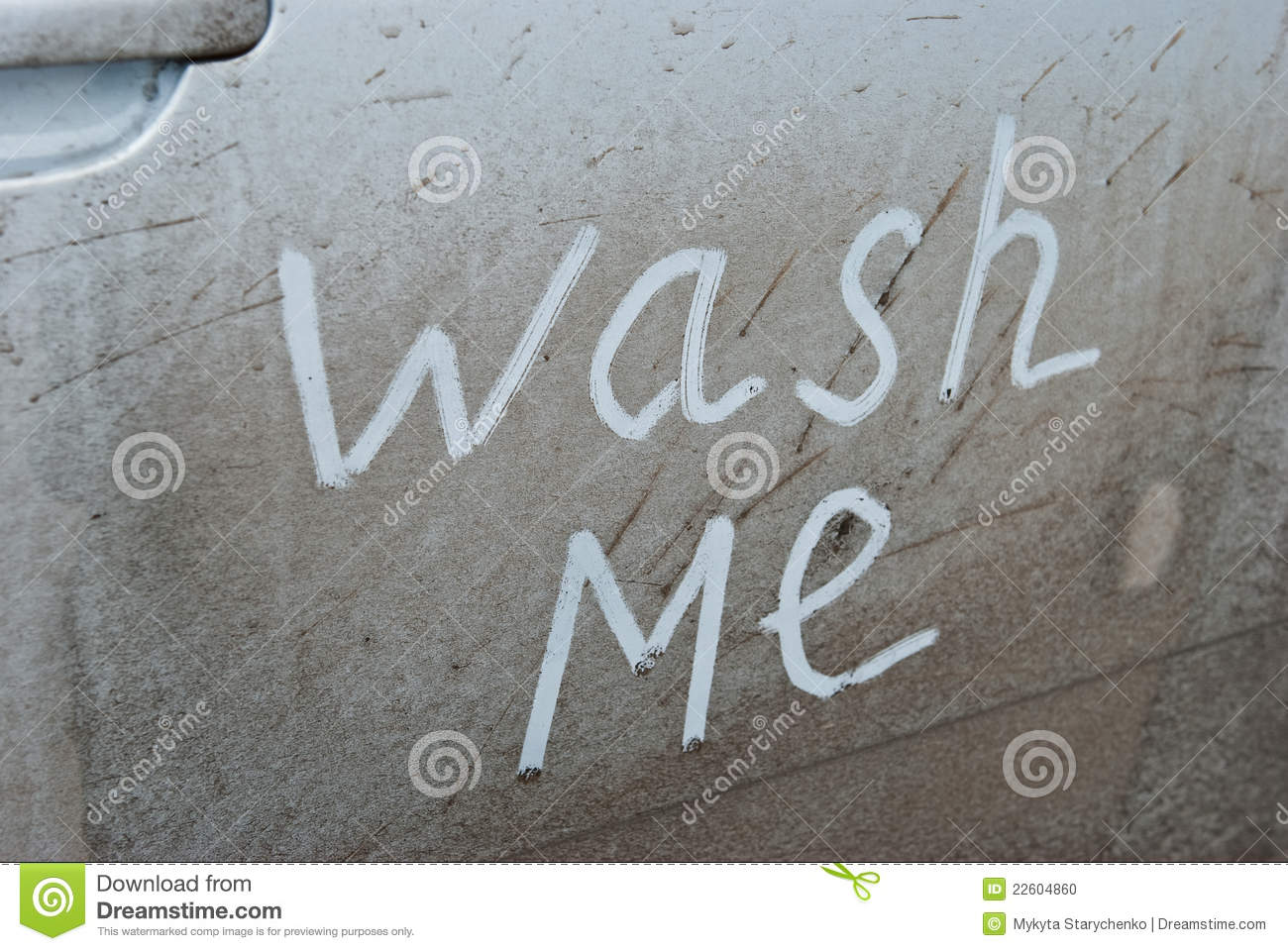 Wash Me Written On A Dirty Car Stock Photo Image 22604860