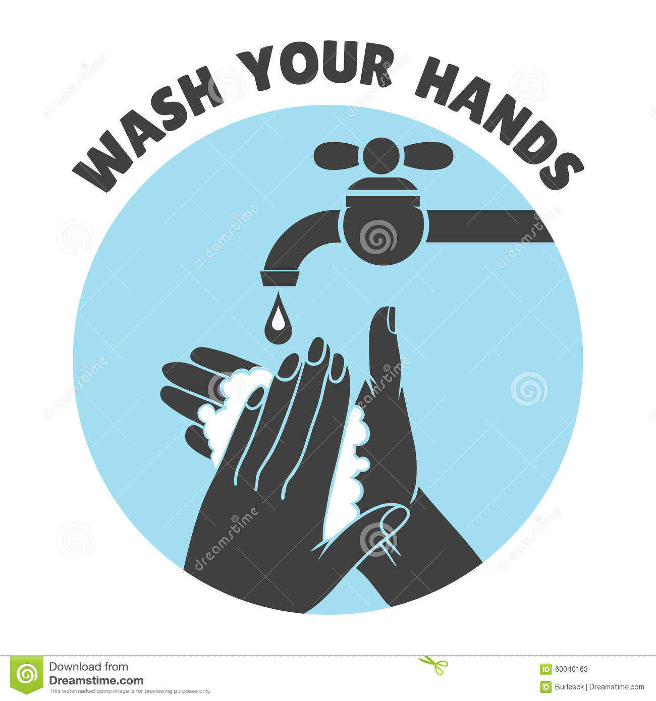 Wash your hands bathroom sign - Wash Your Hands Or Safe Hand Washing Vector Symbol Water And Clean