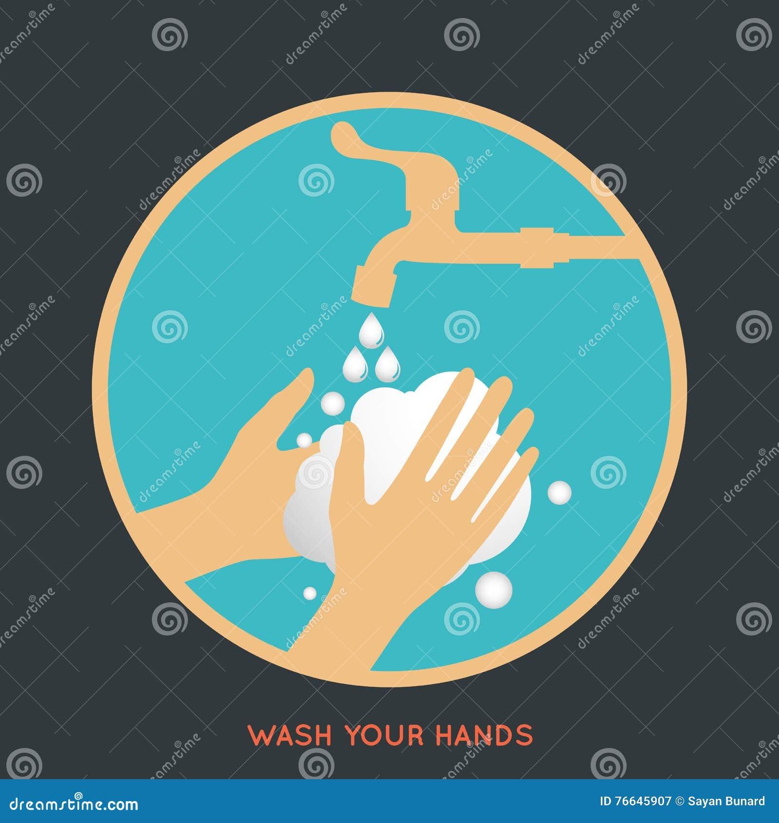 Wash Your Hands Symbol Stock Vector Illustration Of Danger 76645907