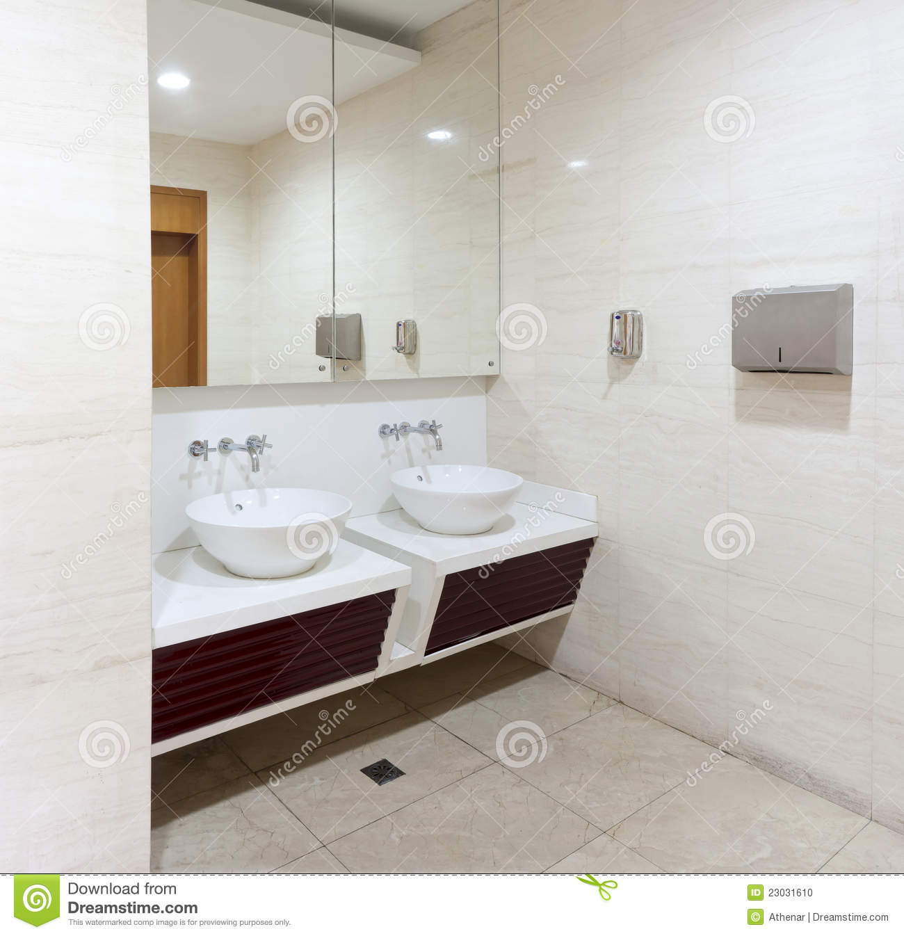 Royalty Free Stock Photo  Download Washbasins  Taps And Mirror In Public  Toilet. Washbasins  Taps And Mirror In Public Toilet Stock Photo   Image