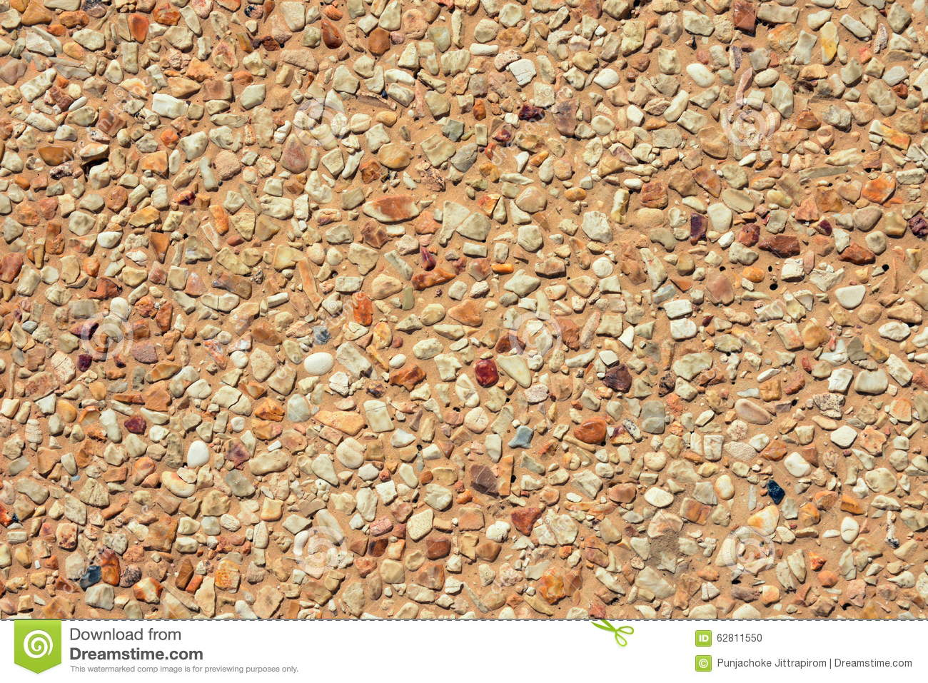 Washed Gravel Floor Texture Stock Photo Image 62811550